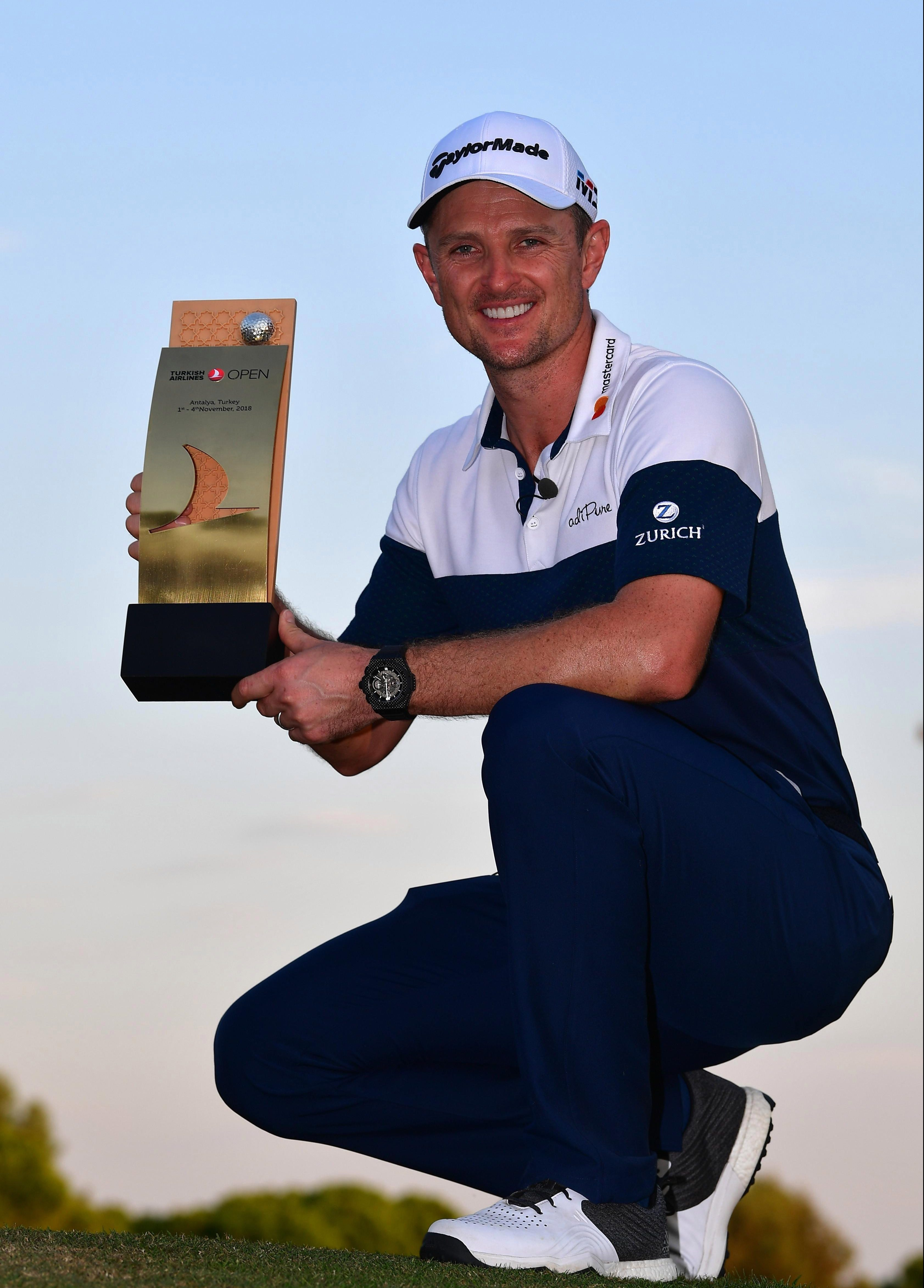 Justin Rose became world number one after his win in Turkey