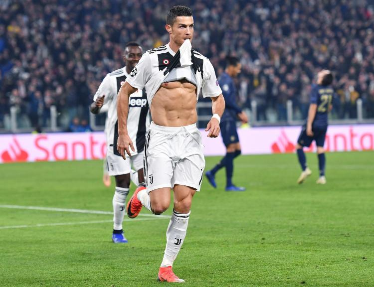Cristiano Ronaldo was clever as he didn't take his shirt off completely, so didn't get a booking