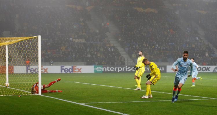 Olivier Giroud got his first goal of the season to finally break the deadlock