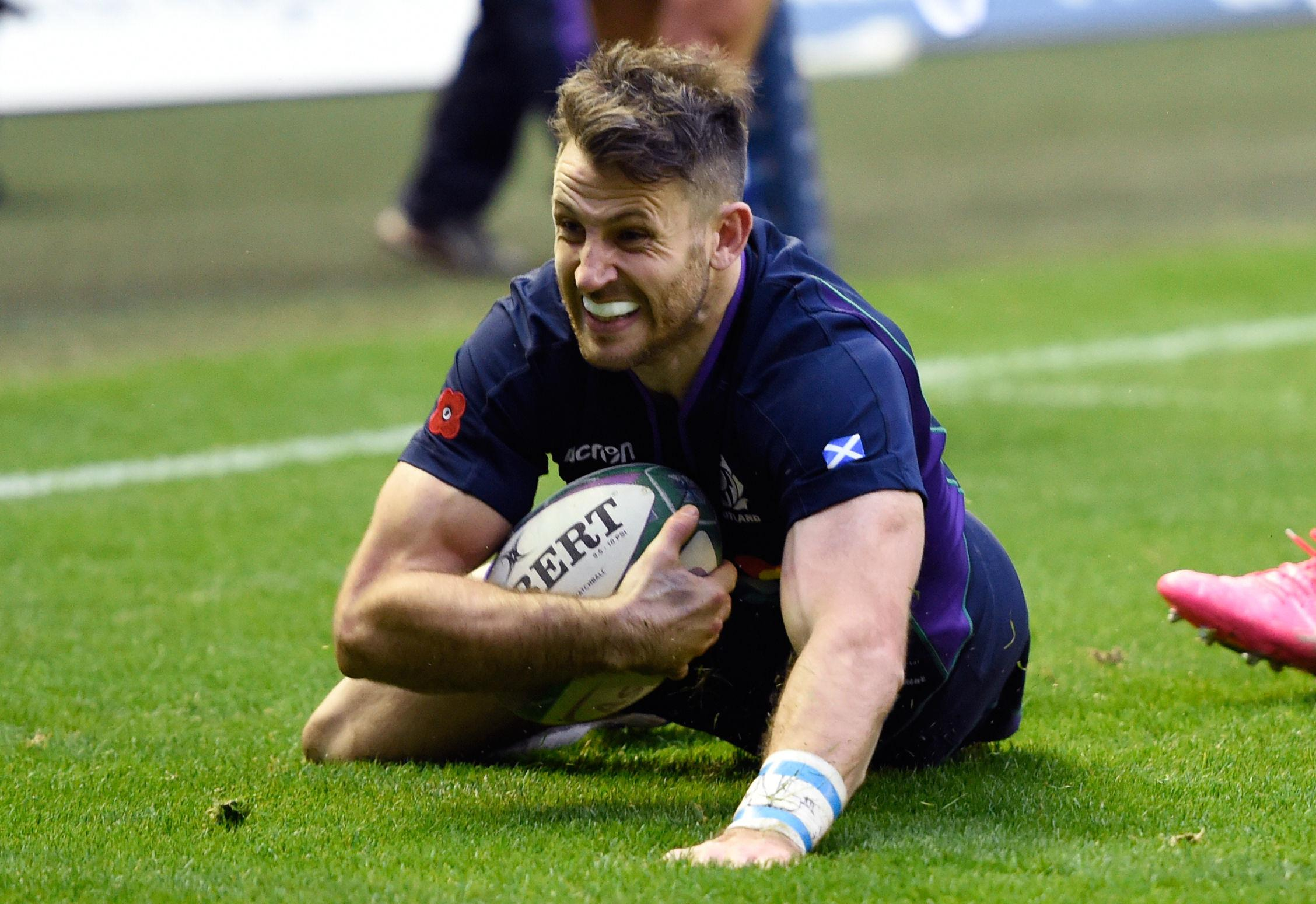 Scotland star Tommy Seymour scored a hat-trick of tries against Fiji