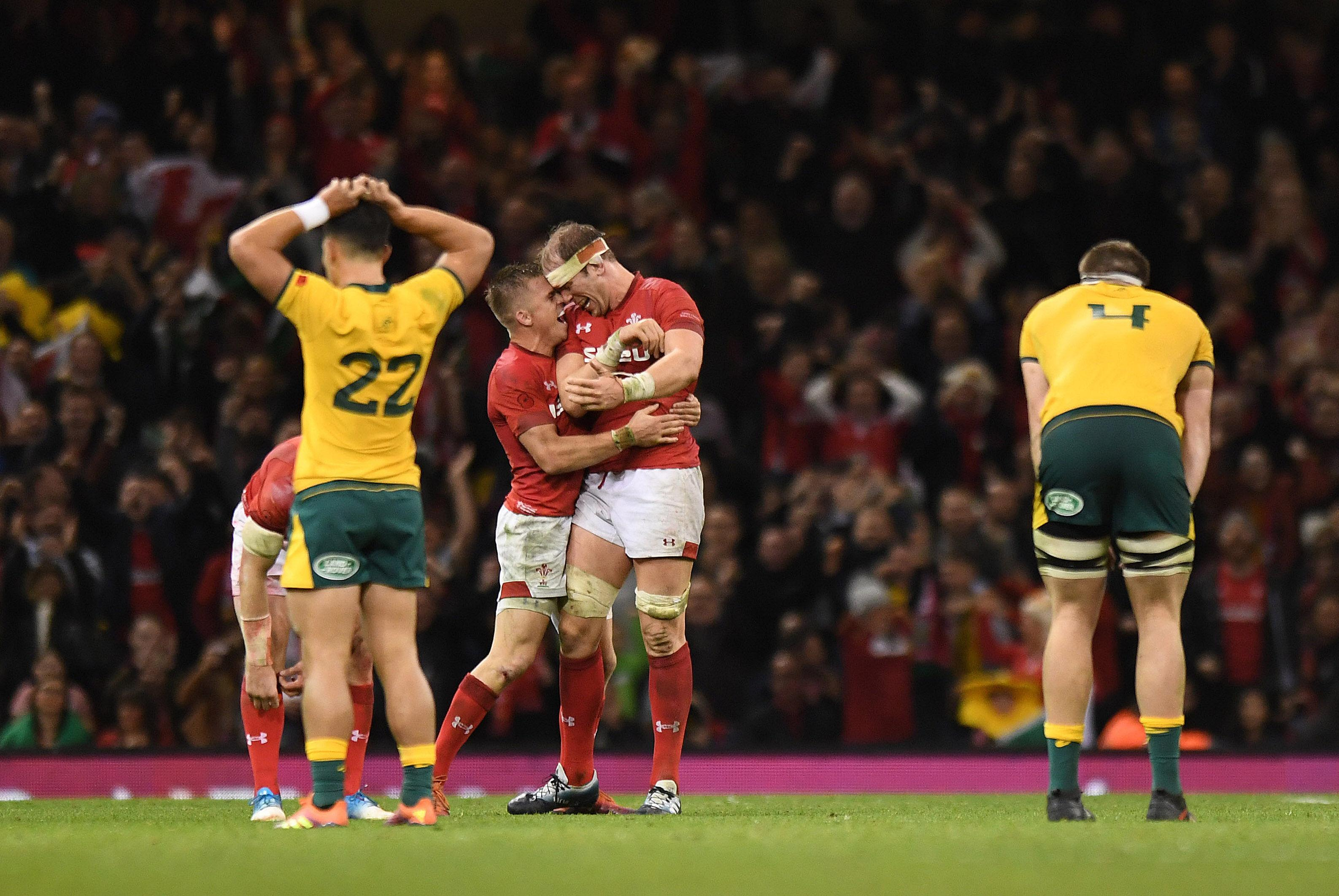 As Wales were left celebrating, a stunned Wallabies side held their head in their hands