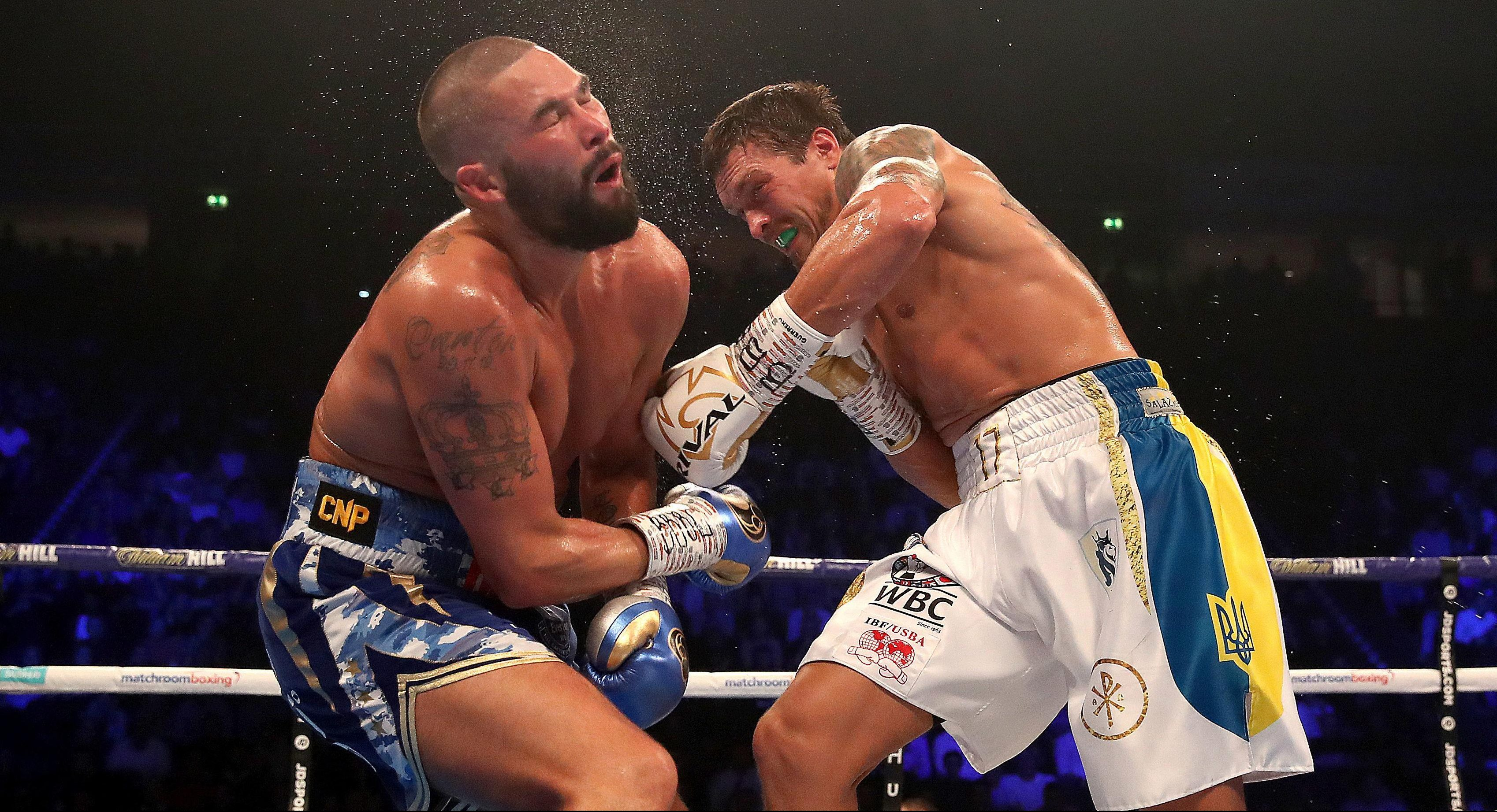 Bellew was stopped in round eight against Usyk, despite being ahead on two scorecards