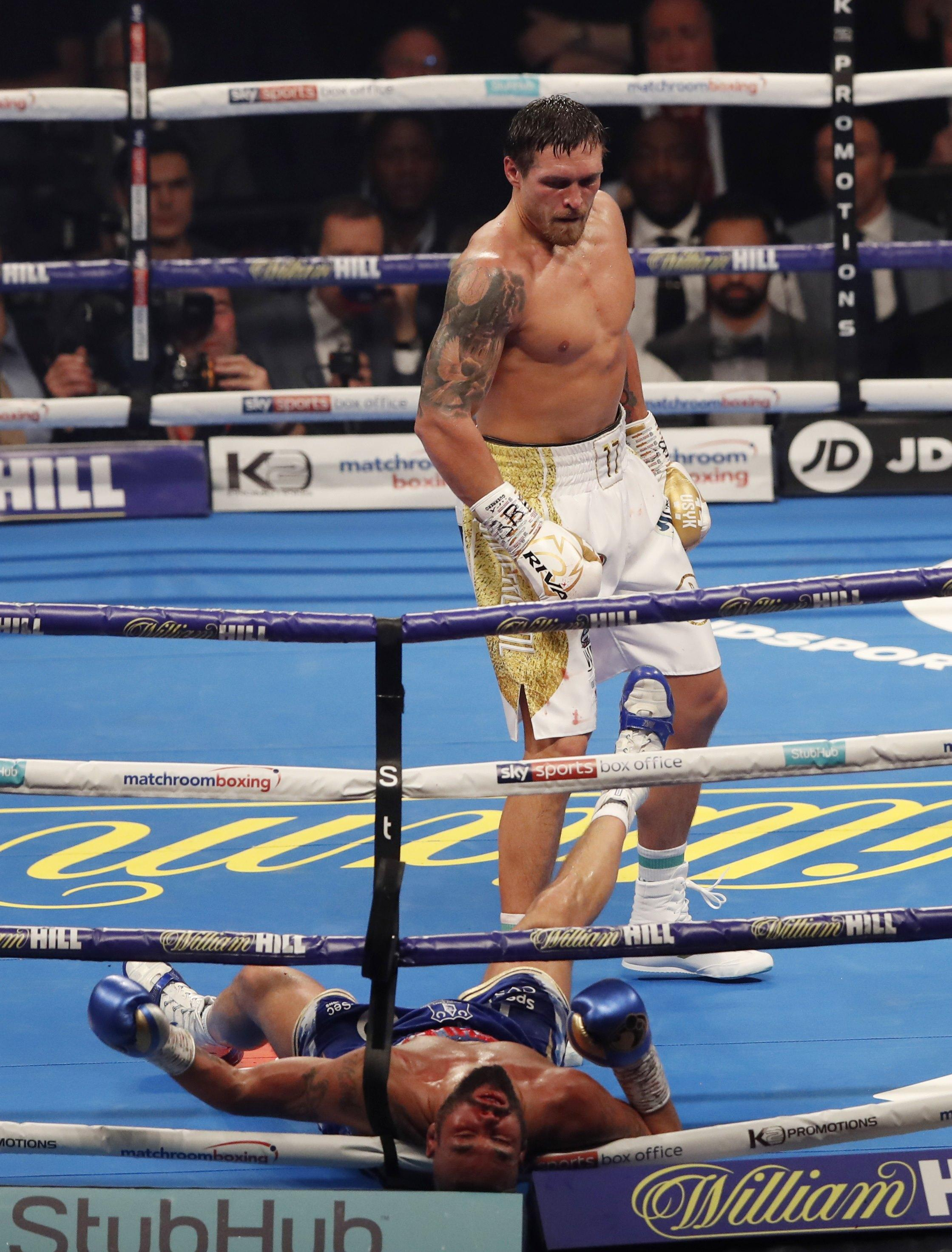 Oleksandr Usyk has been told to beef up if he wants a shot at Anthony Joshua after retiring Tony Bellew