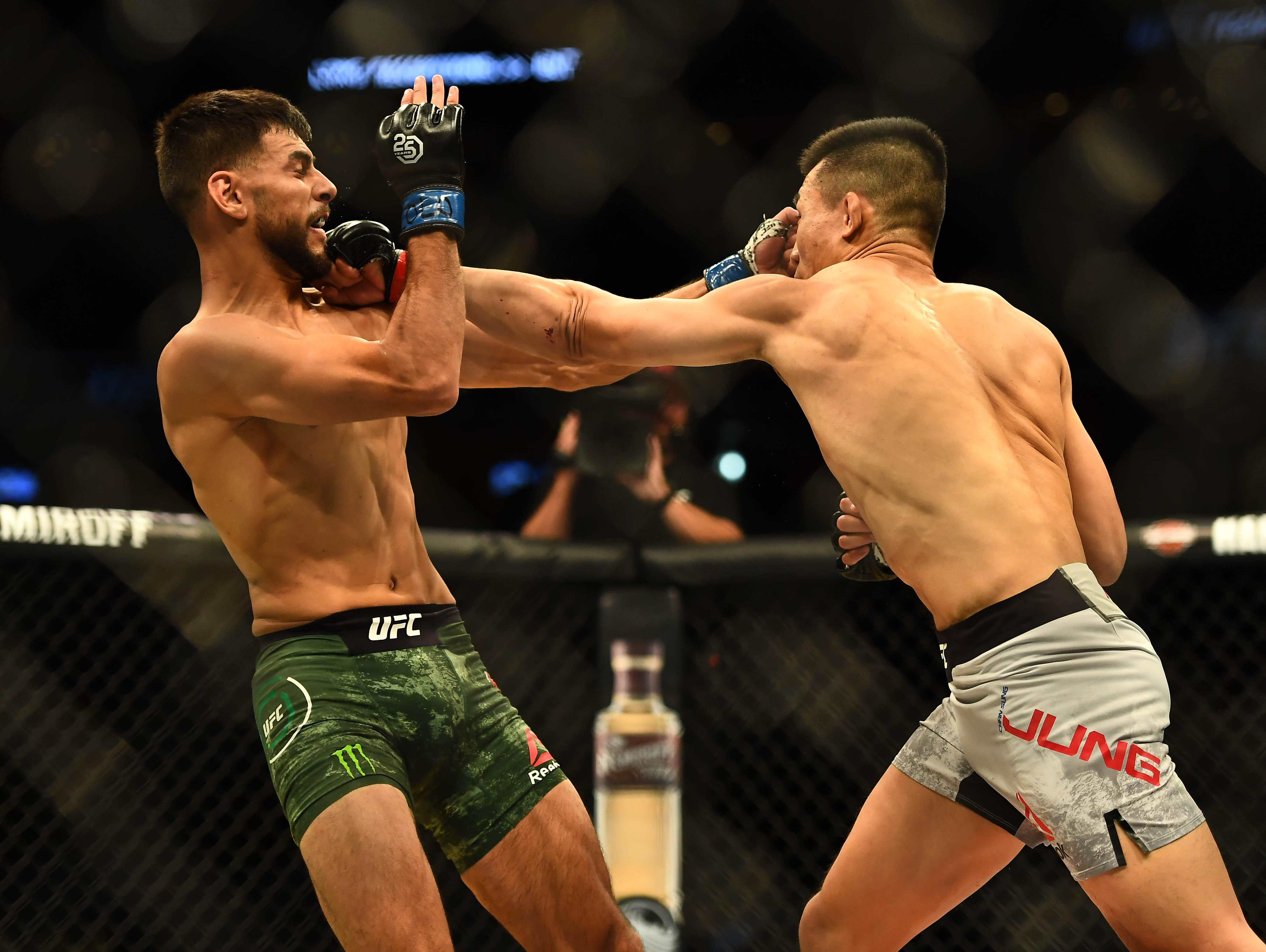 It was a close encounter throughout at UFC Fight Night 139 but Jung was ahead before the brutal blow