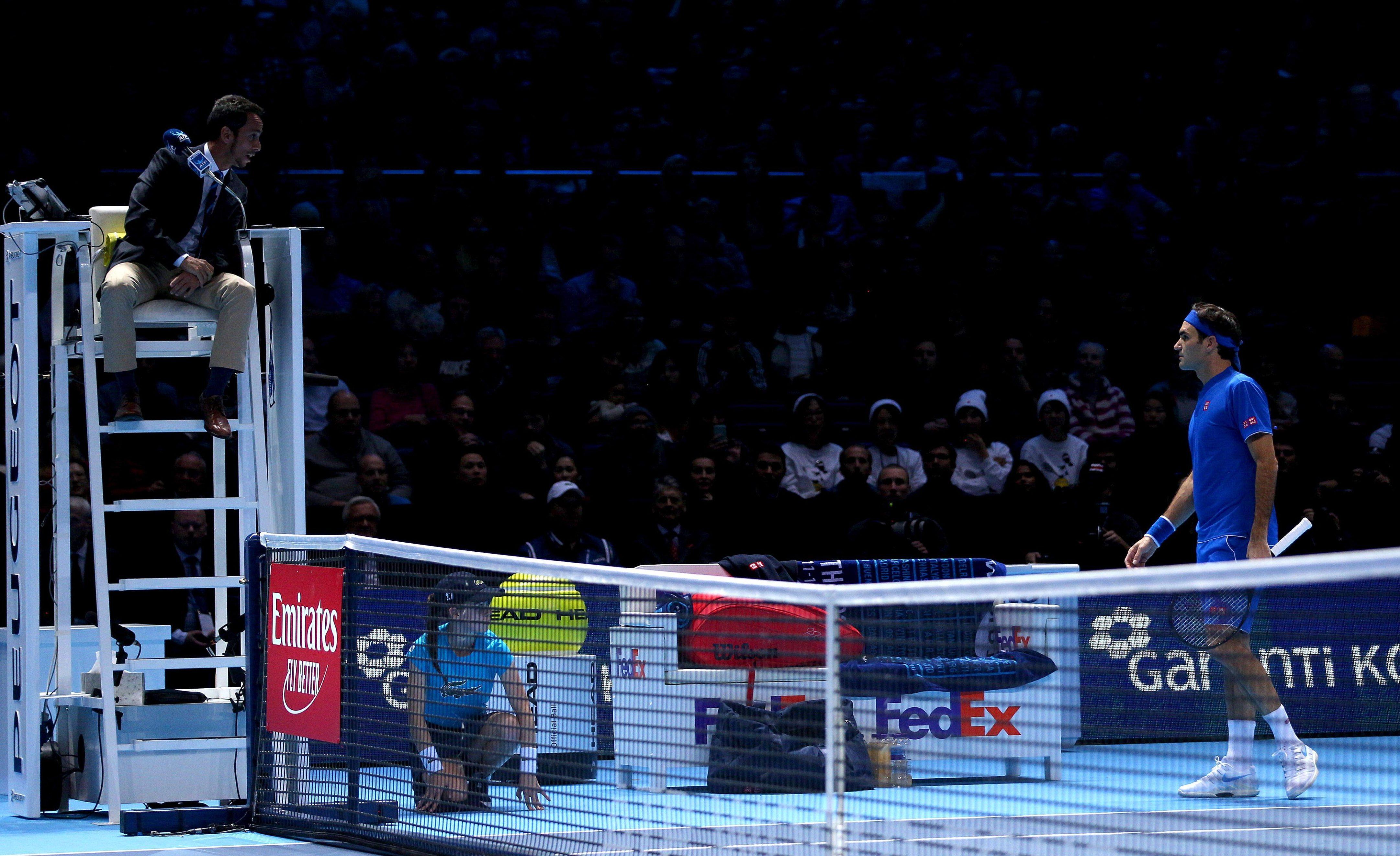 Federer was fuming with Argentine umpire Damian Steiner