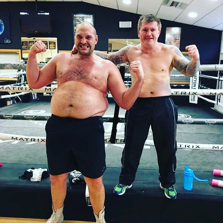 The Gyspy King has shed a massive 10st - the equivalent of Ricky Hatton