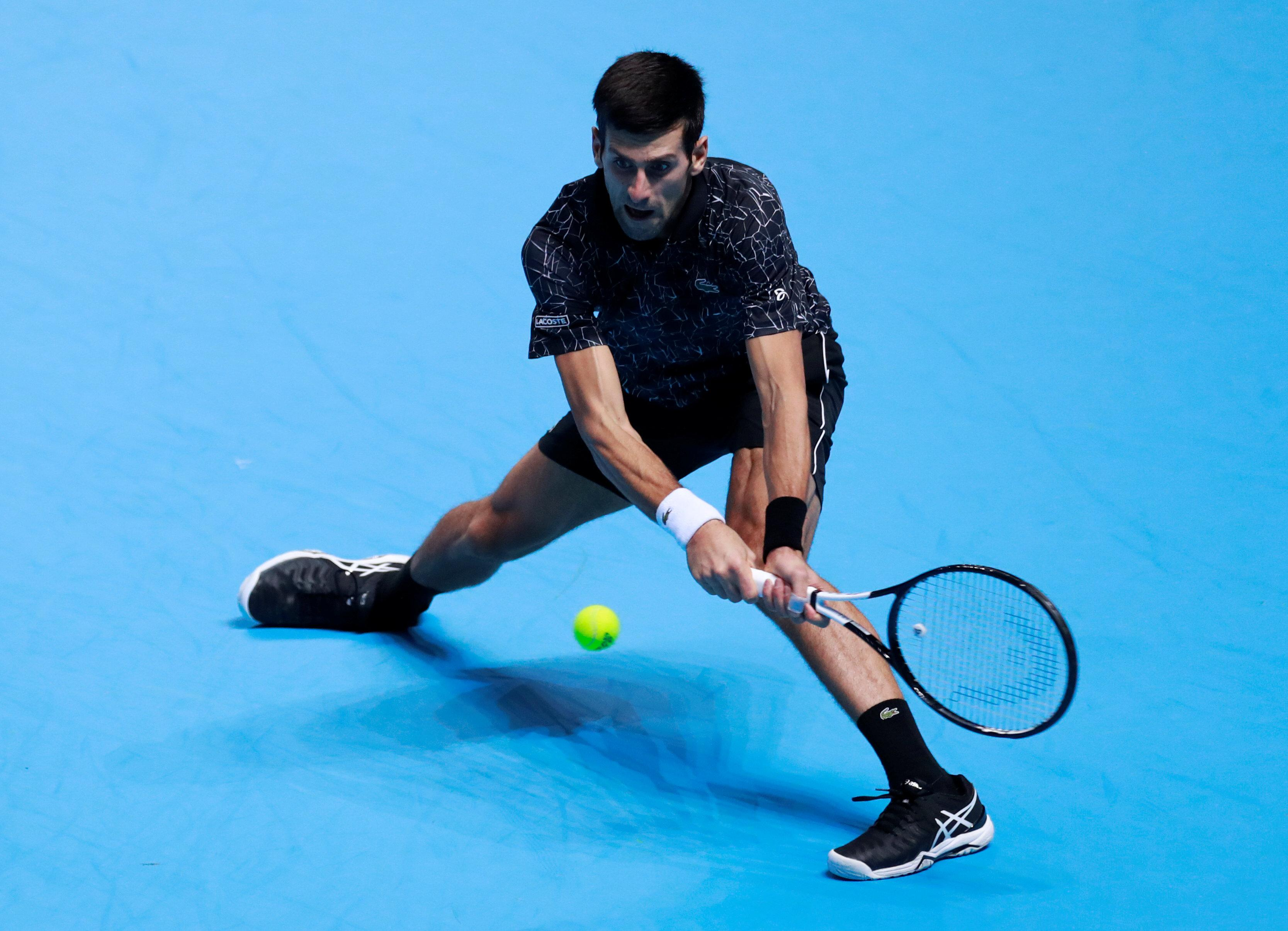 Novak Djokovic was nicknamed Mr Bendy because of his signature elasticity