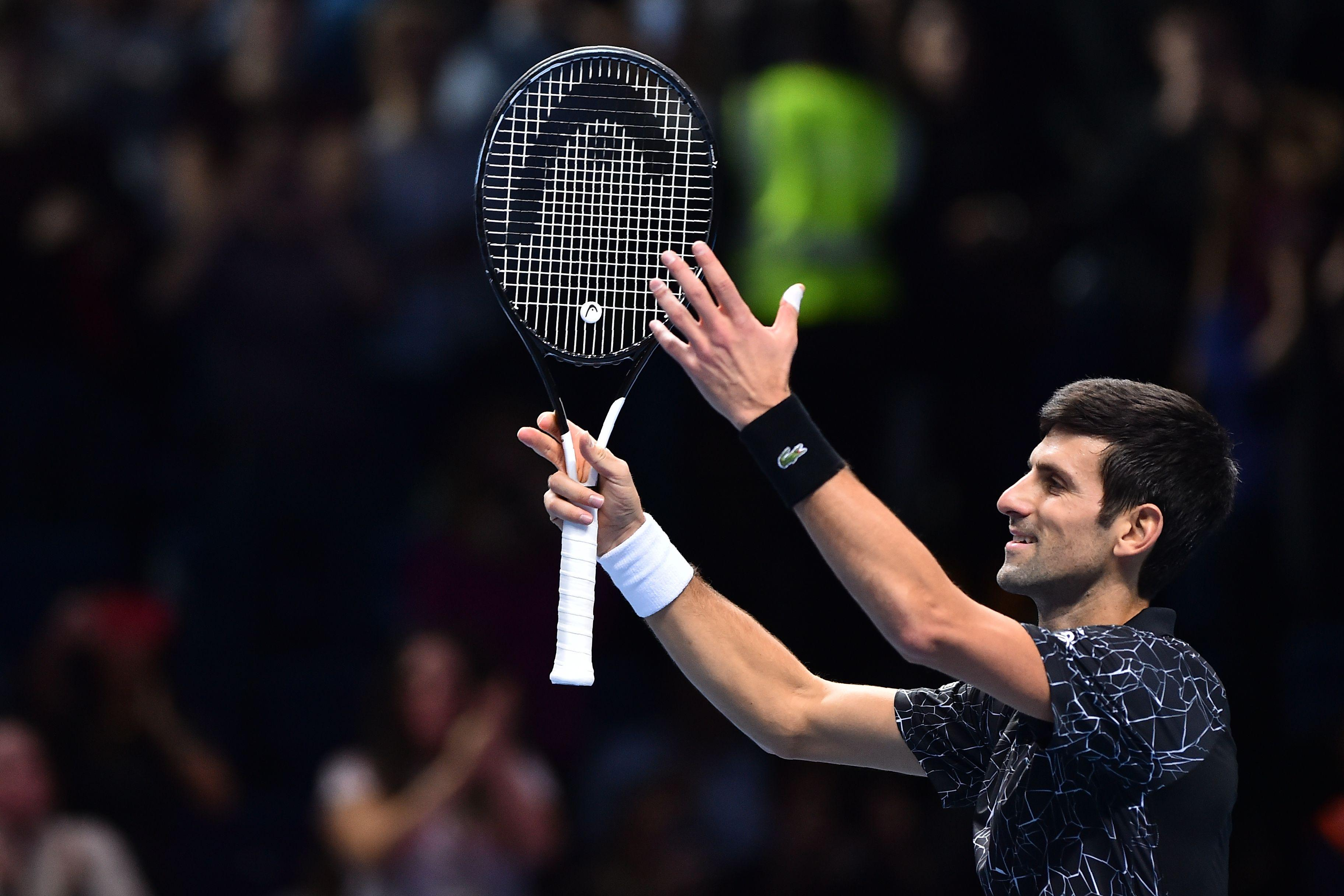 Novak Djokovic maintains 100 per cent record at the Finals after defeating Cilic in straight sets
