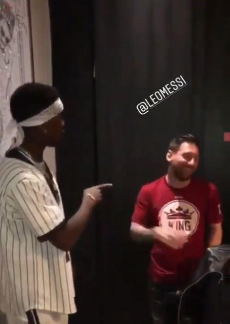 Lionel Messi appeared to take exception to Paul Pogba's joke