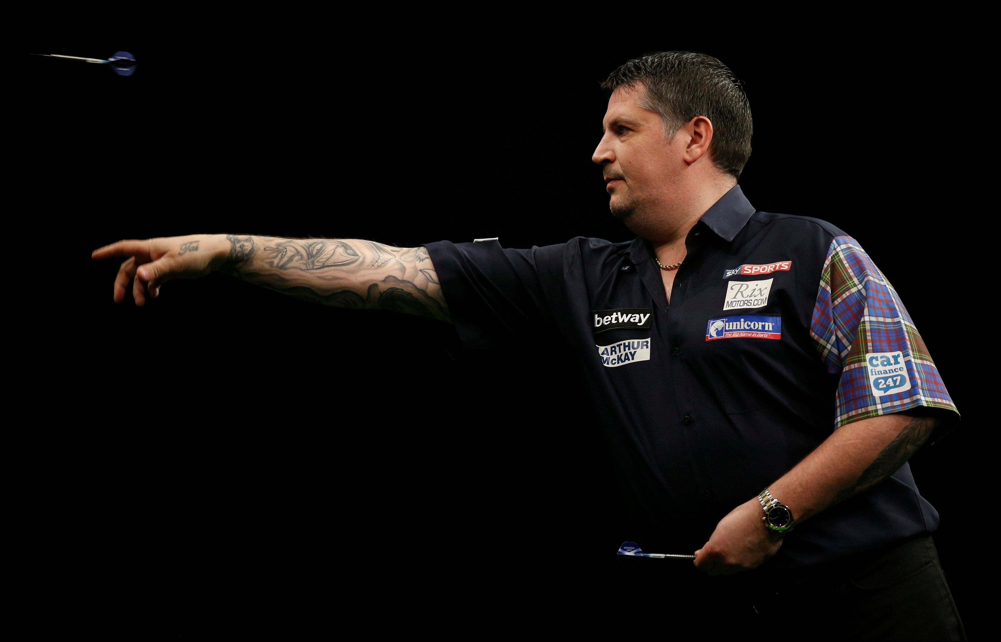 Gary Anderson was one of the players accused of dropping his guard during the darts on Thursday