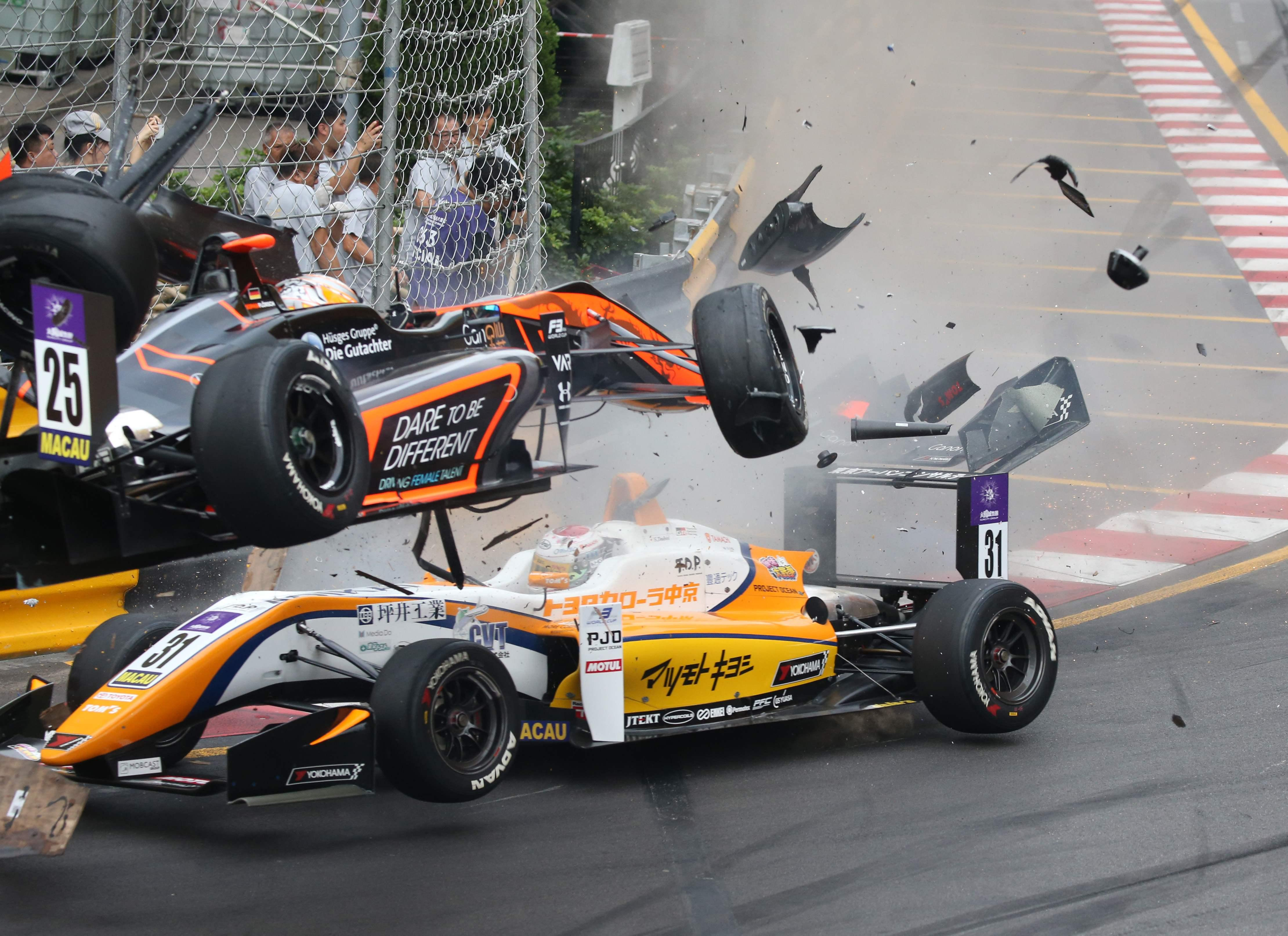 Sophia Floersch crashed at 170mph in heart-stopping scenes over a week ago