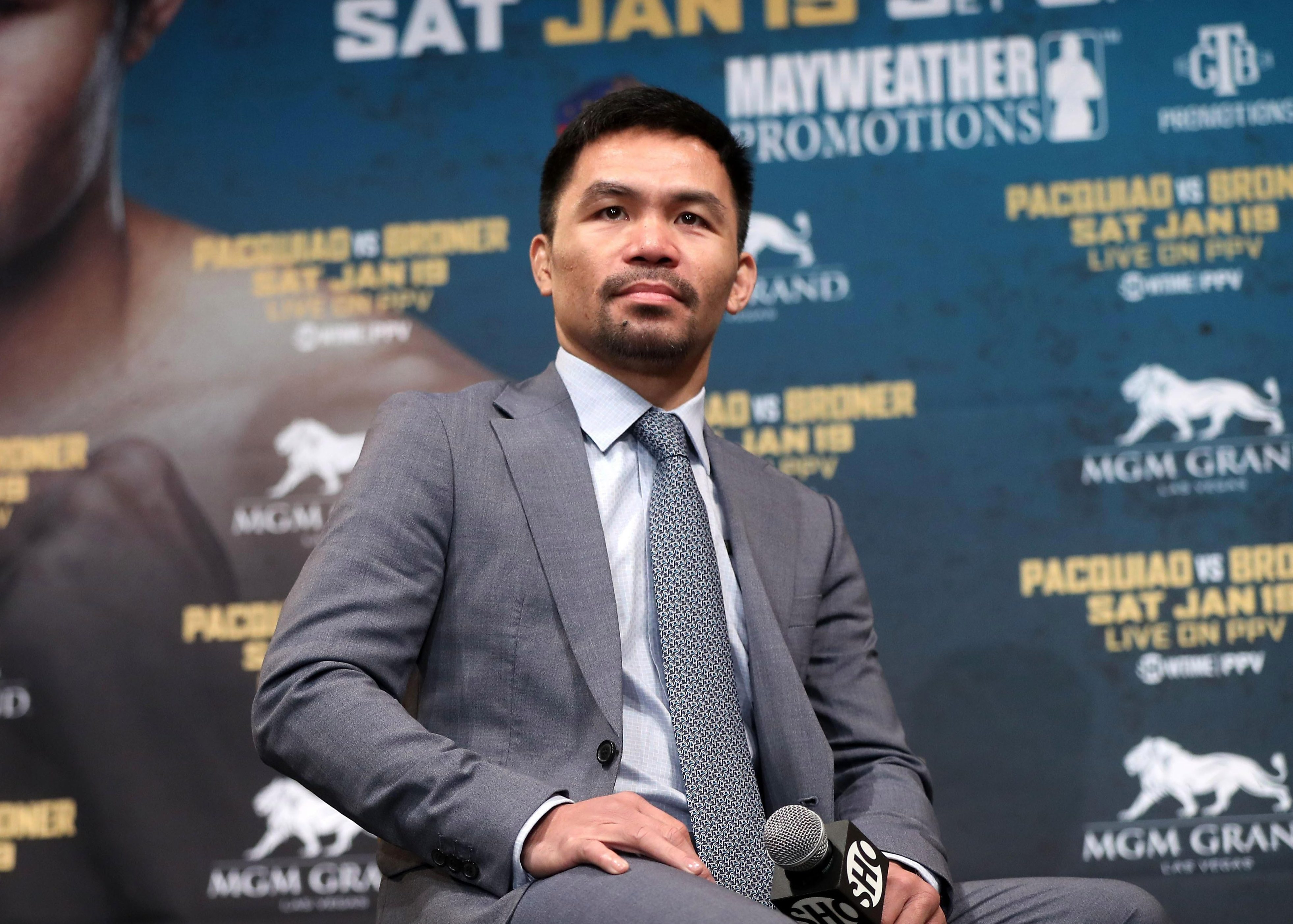 Manny Pacquiao will be looking to retain his WBA regular welterweight title against Adrien Broner