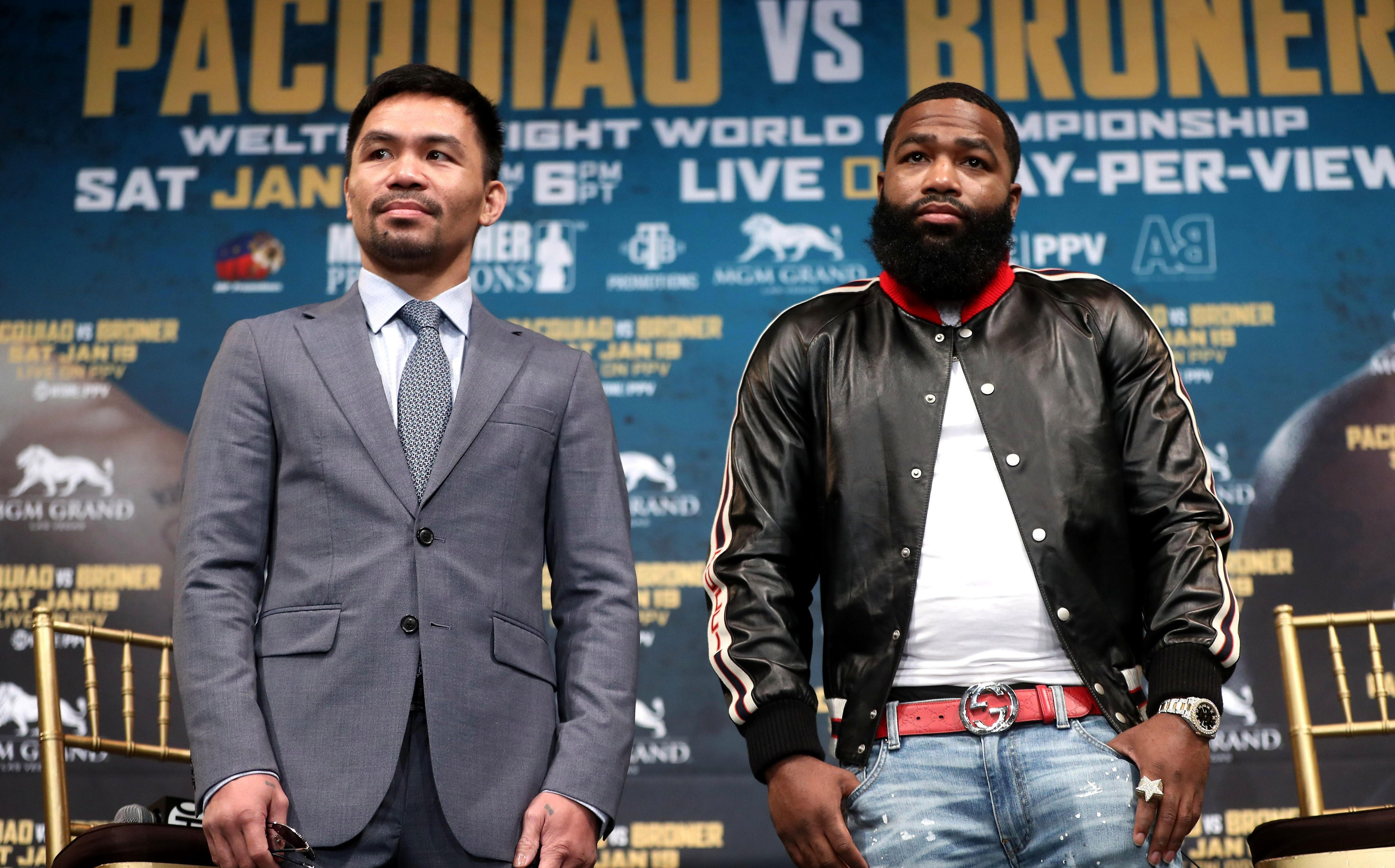 Adrien Broner will take on the Filipino superstar on January 19