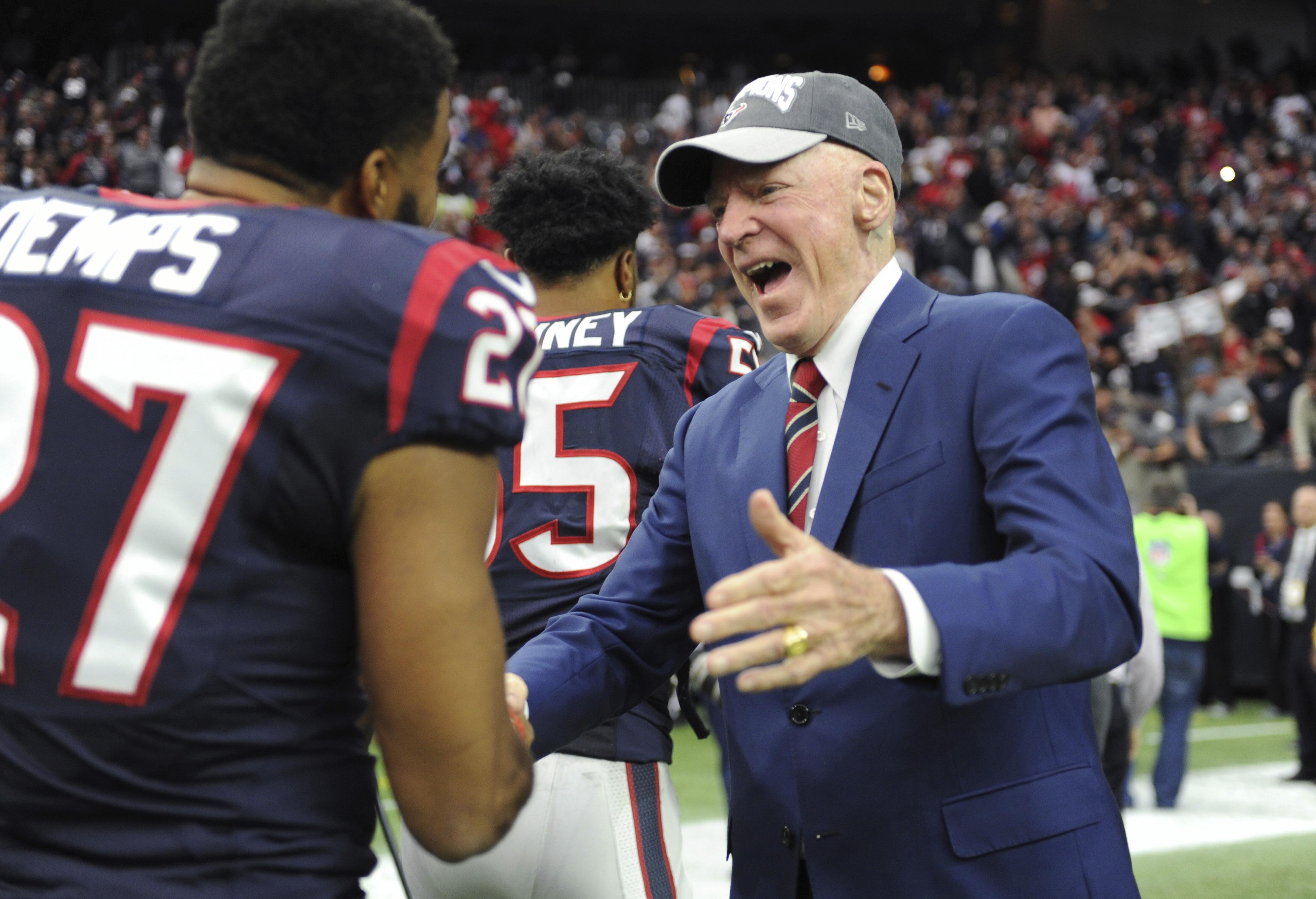Houston Texans have been rocked by the death of their owner Bob McNair