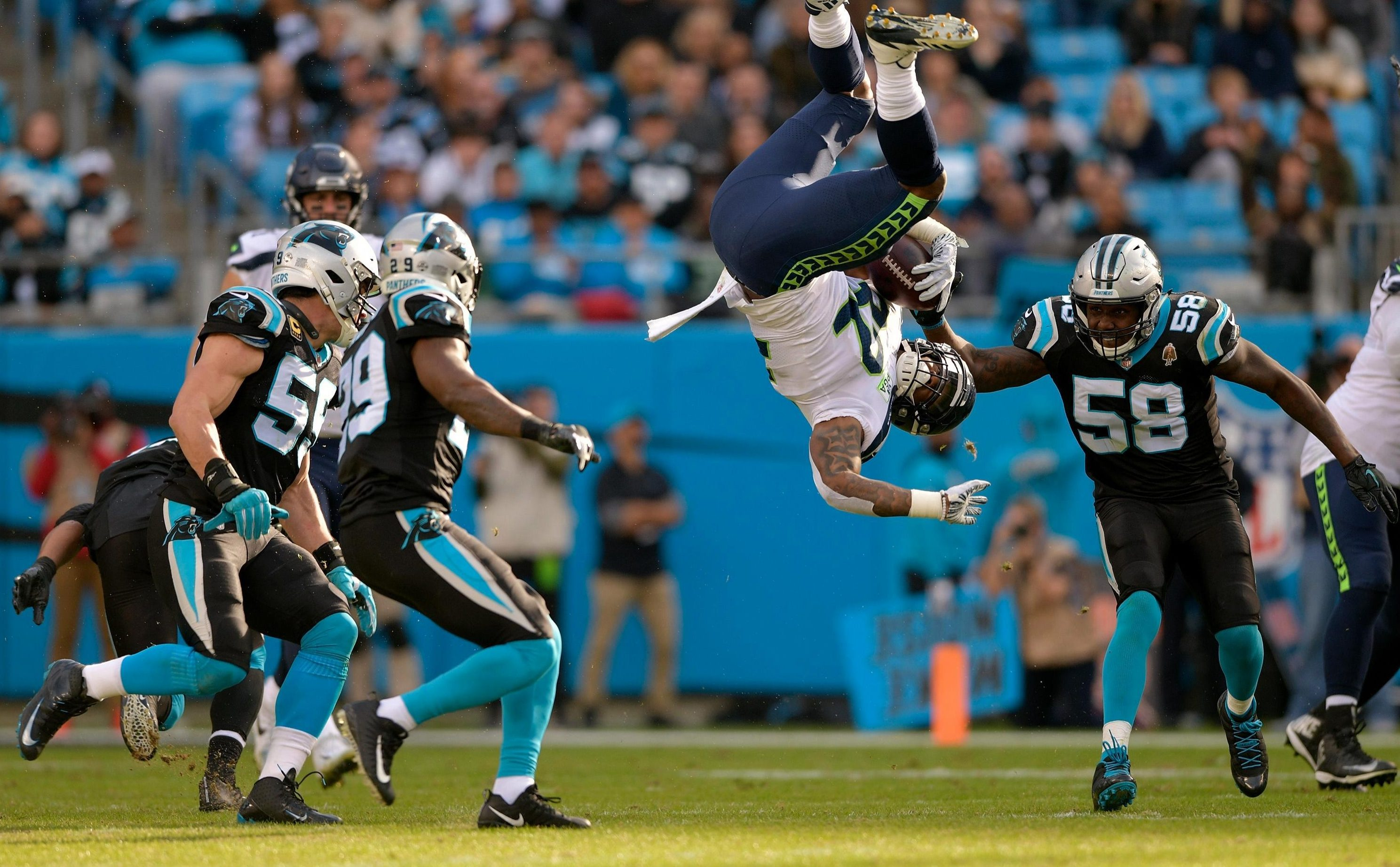 Some fans compared the Seattle Seahawks star to Spiderman