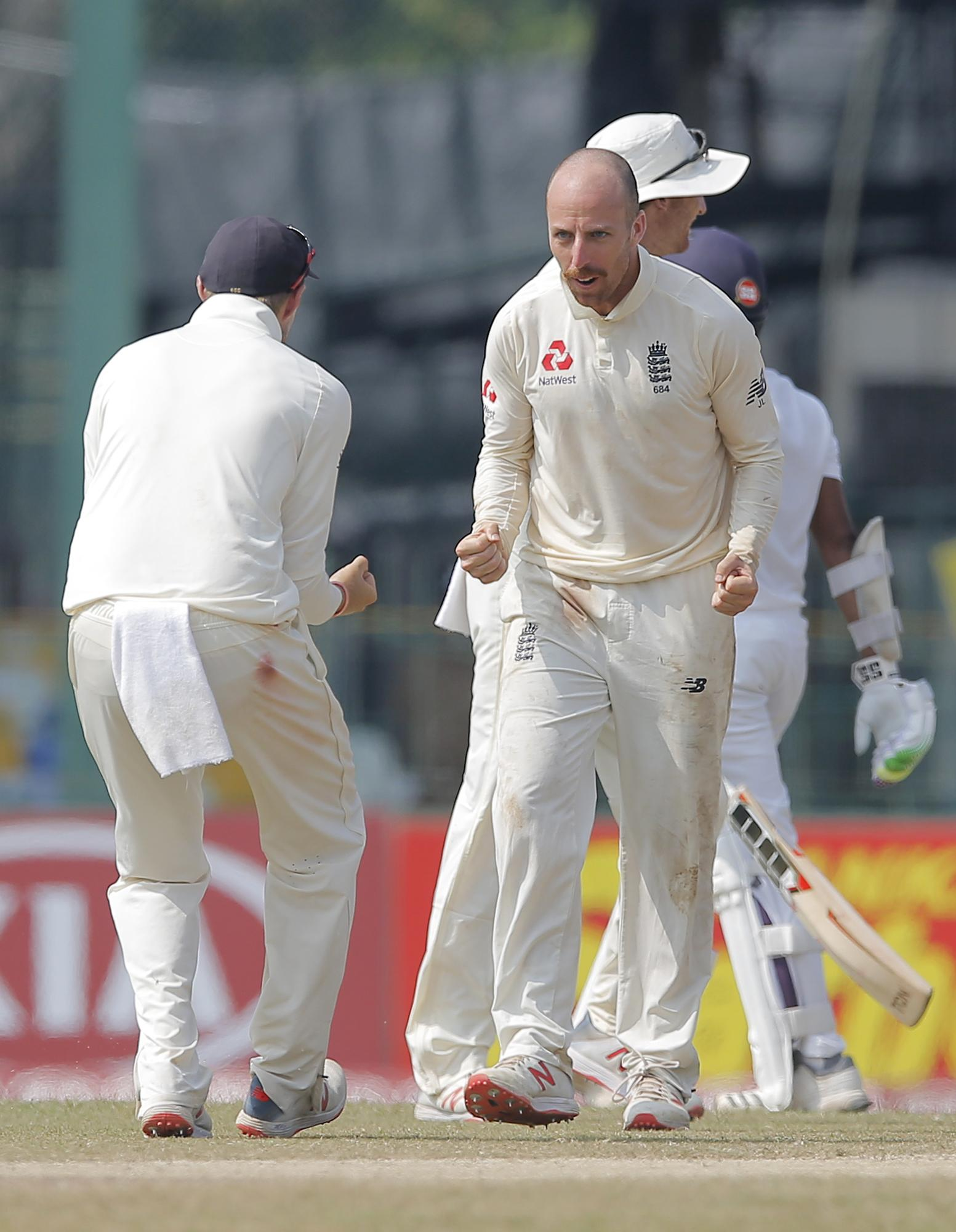 Jack Leach was on fire with the ball and in the field on day four
