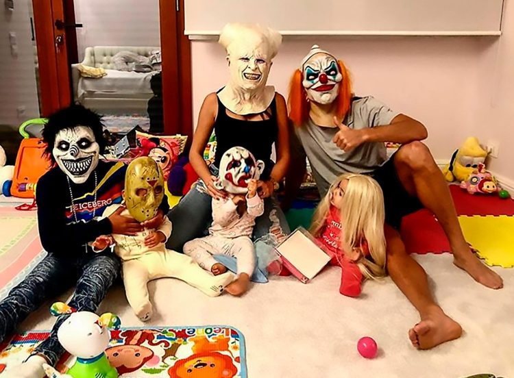 Halloween in the Ronaldo and Rodriguez household was almost as spooky as their new cat