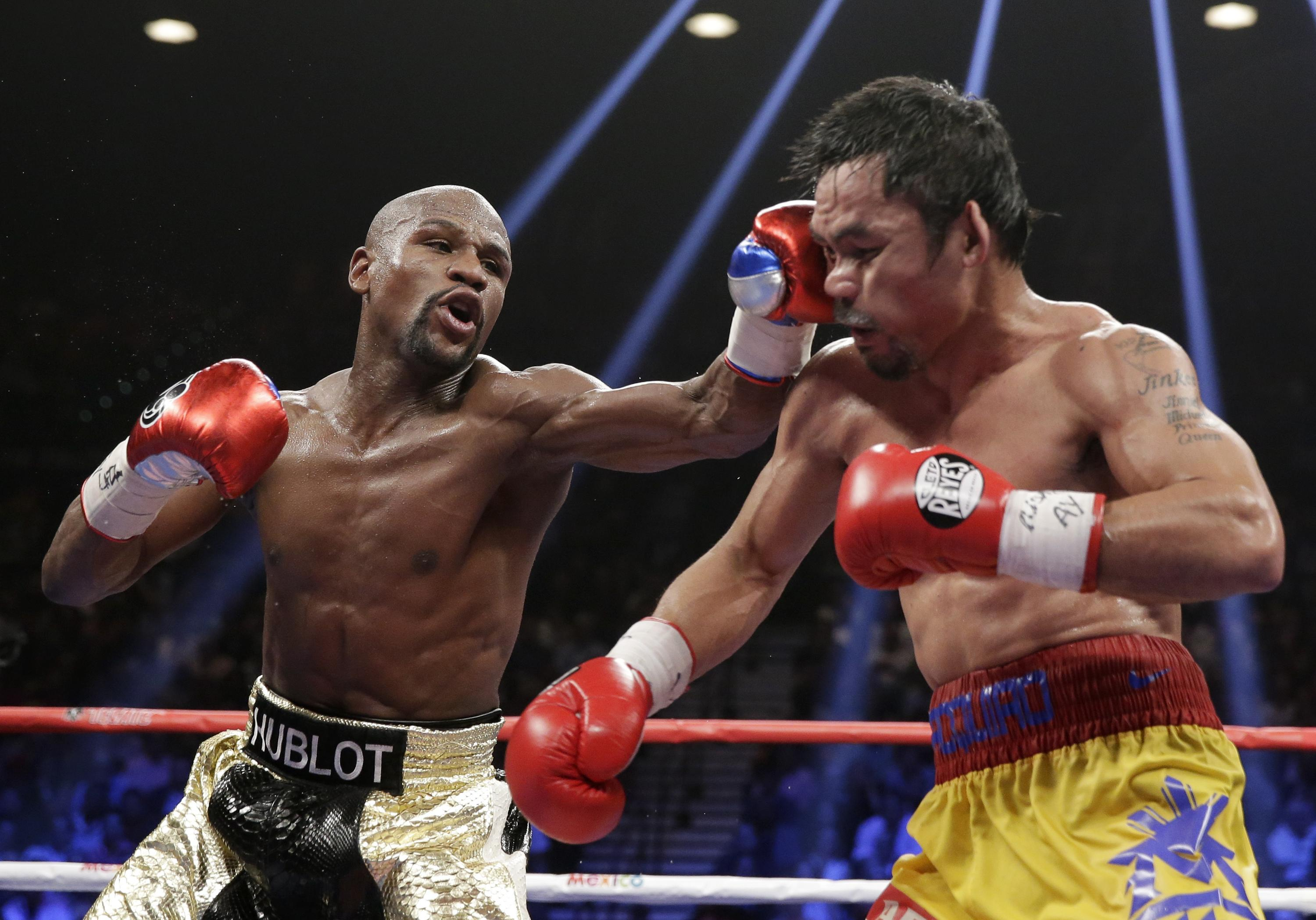 Mayweather defeated Pacquiao in 2015