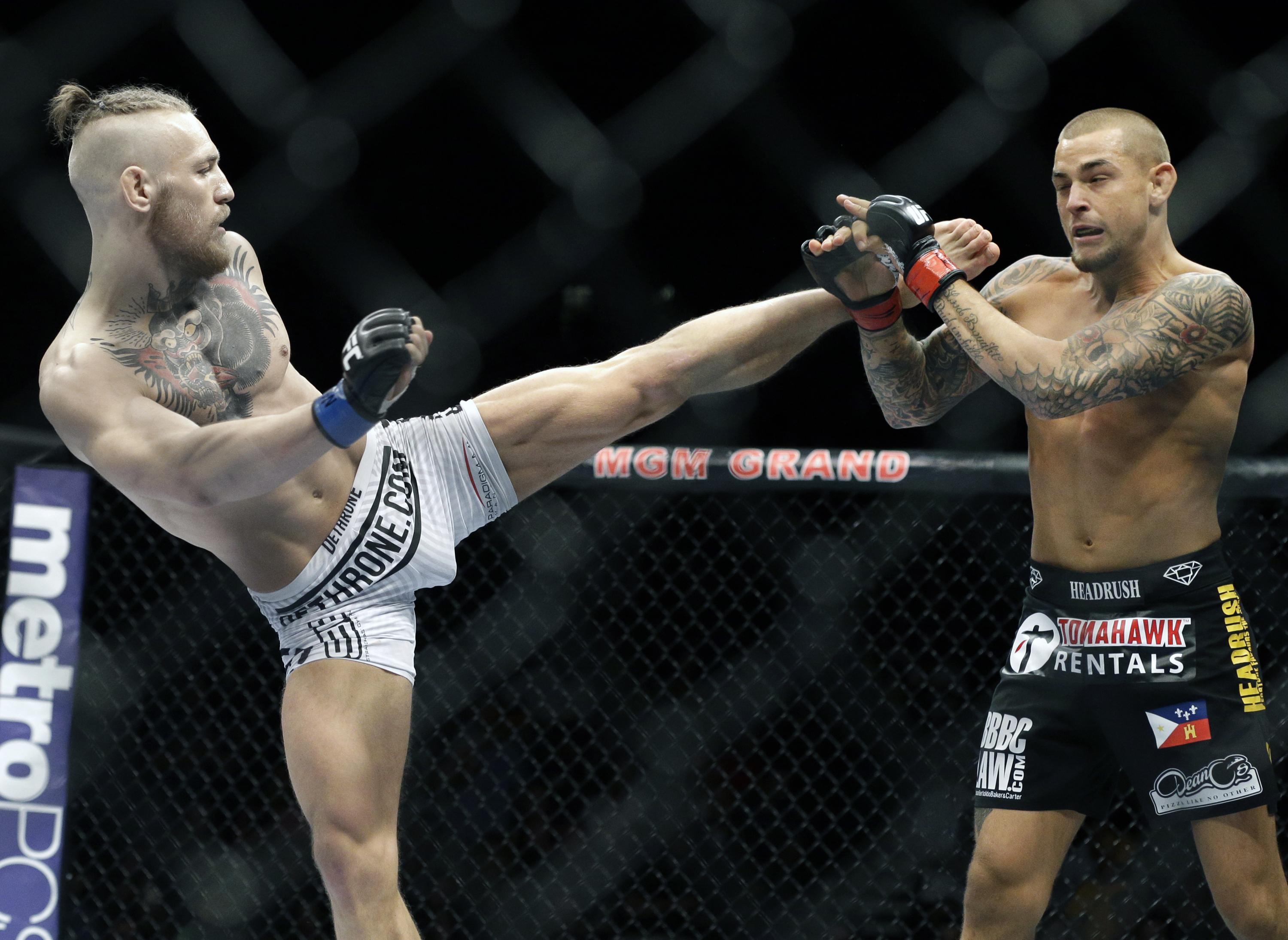 McGregor scored a KO win against Poirier at featherweight in 2014