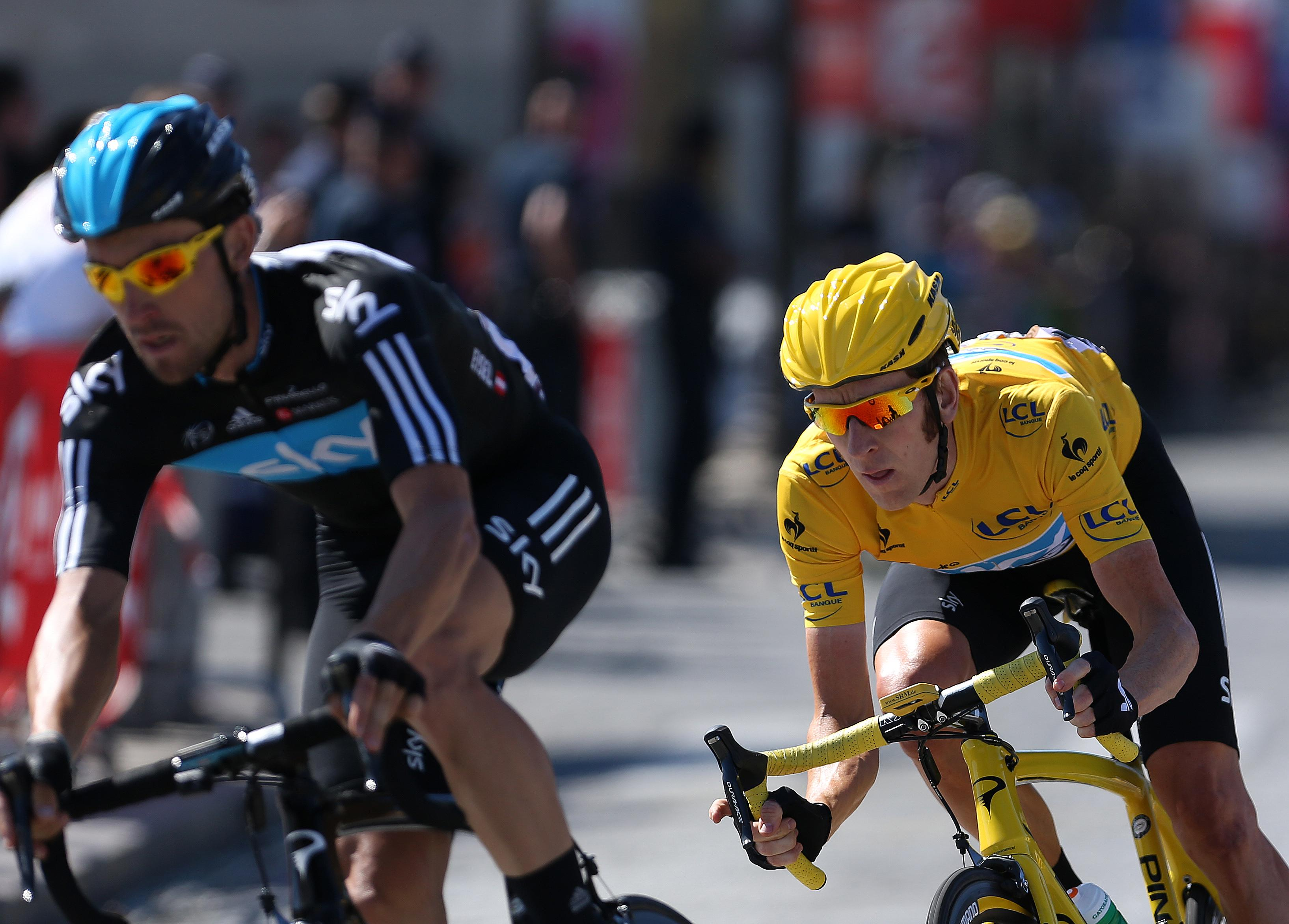Sir Bradley Wiggins became the first British winner of the Tour de France in 2012