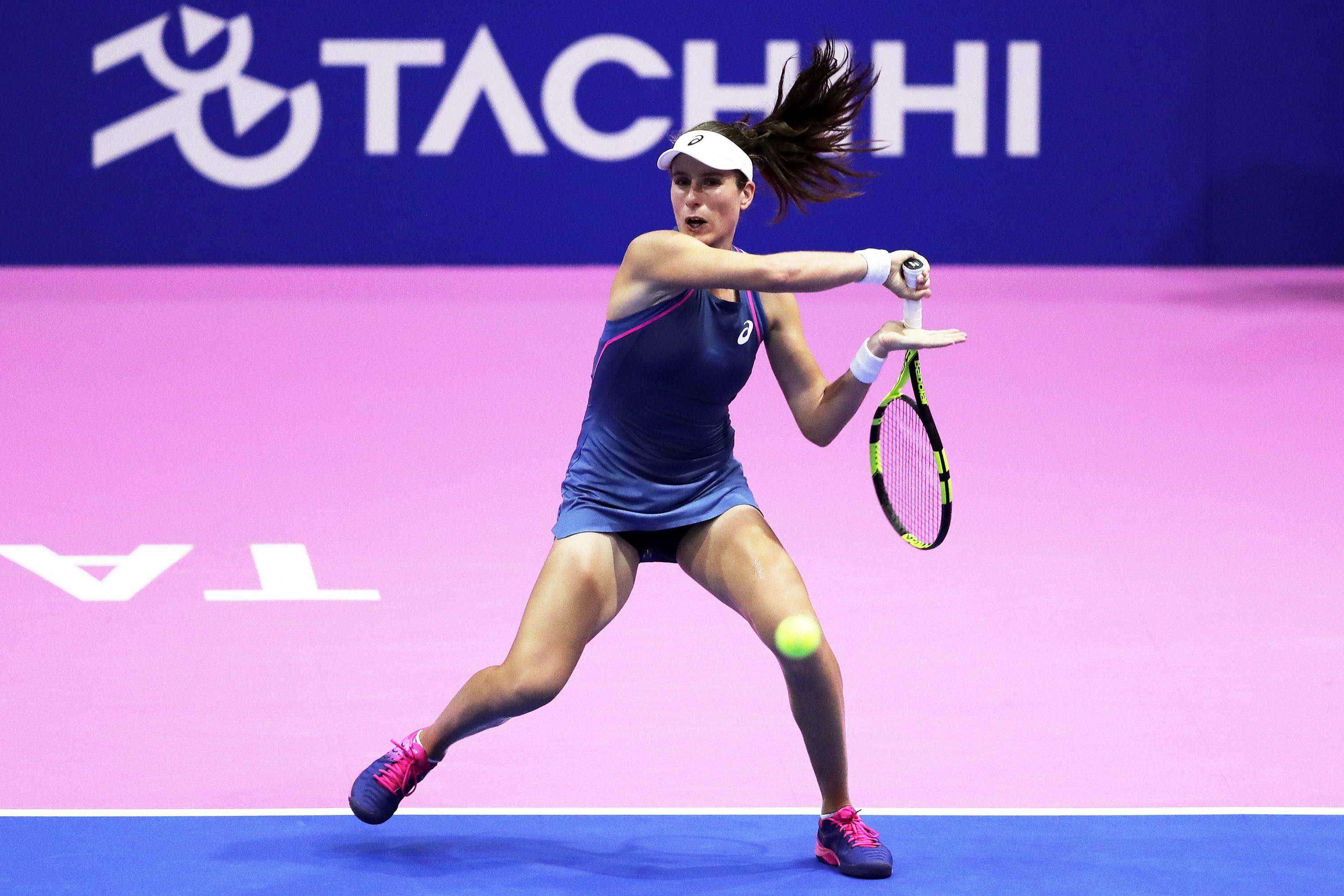 Jo Konta is looking to rediscover her form from 2017 in the new season