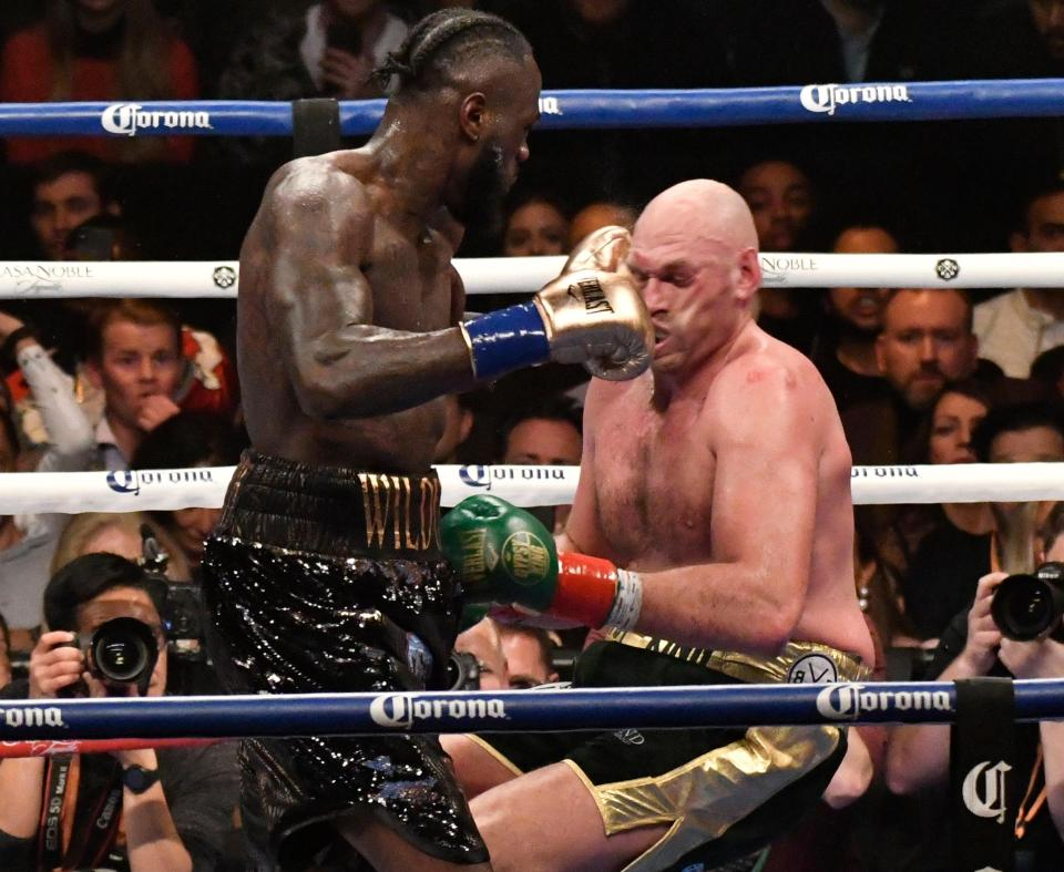 Tyson Fury stunned fans and pundits after he rose to his feet in the 12th round