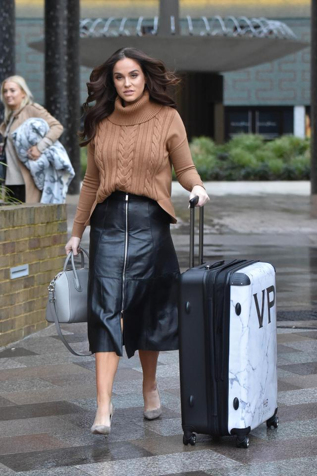 Vicky, pictured outside the ITV studios following an appearance on This Morning, has checked into a juice retreat