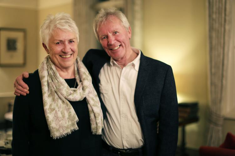 Geoff Tonks and Barbara Jacobs are all smiles after reconnecting the family bond