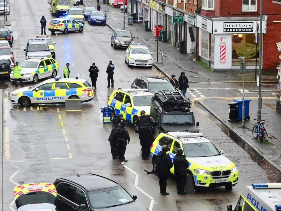 Police were called to Portland Road in Hove about 8am