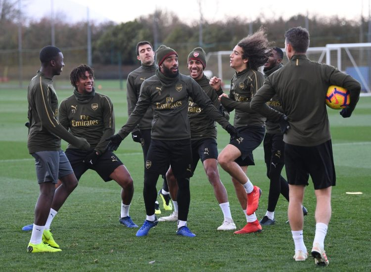 Lacazette, Geundouzi and Aubameyang lark about - but the headlines will have made for grim reading