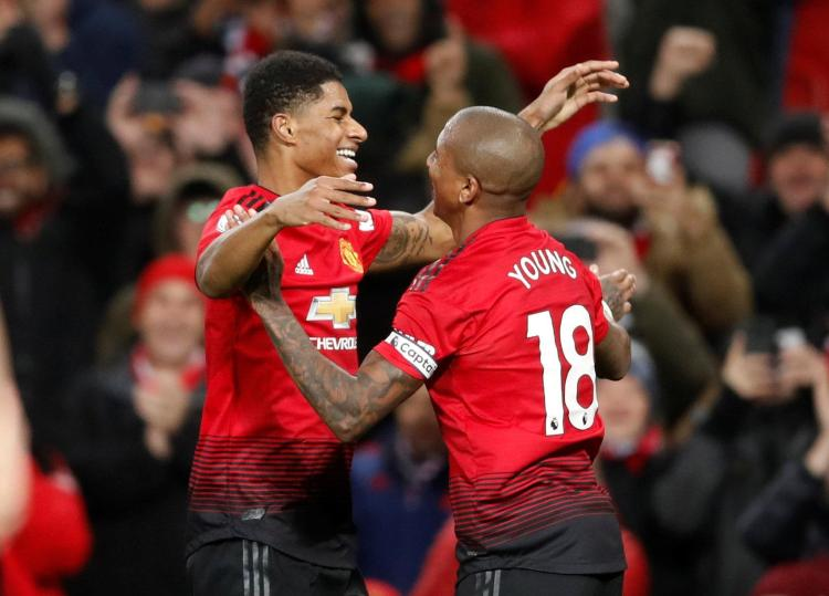 Marcus Rashford added a late fourth for the Red Devils