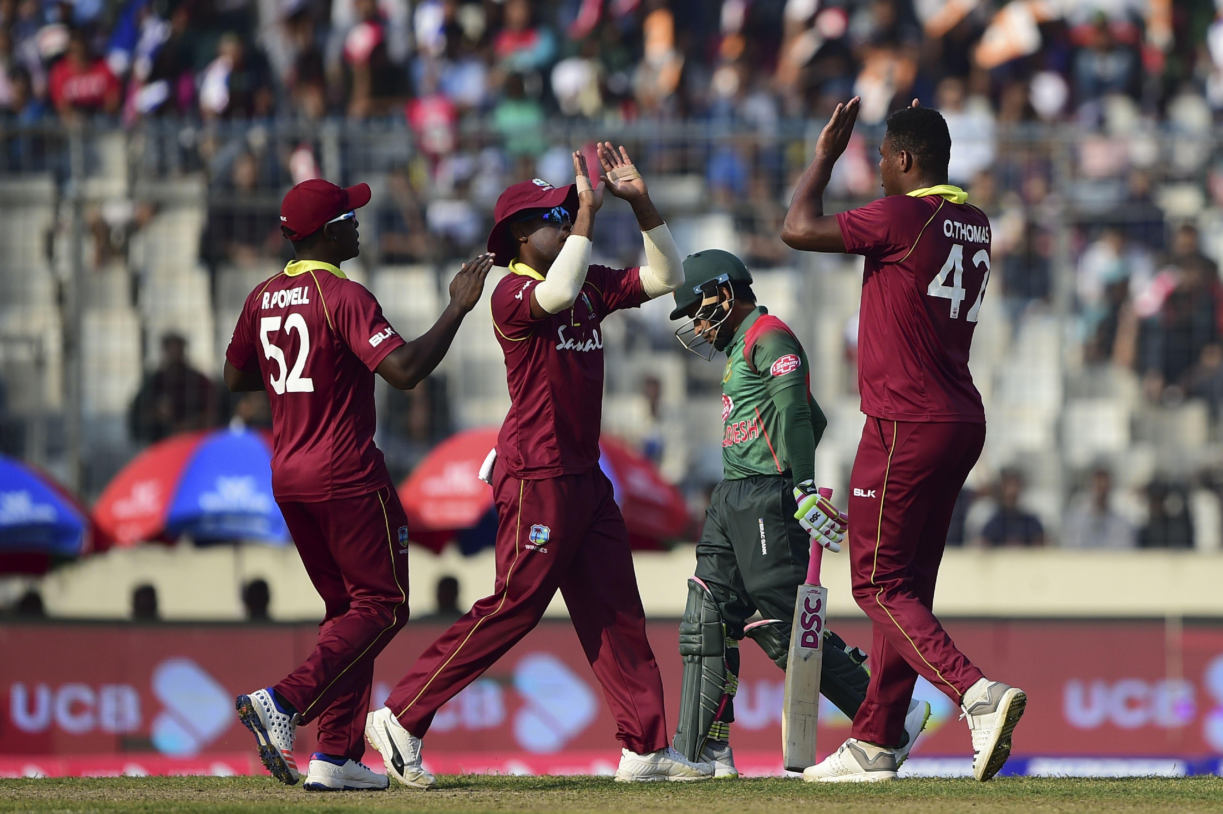 West Indies take on Bangladesh in their second ODI