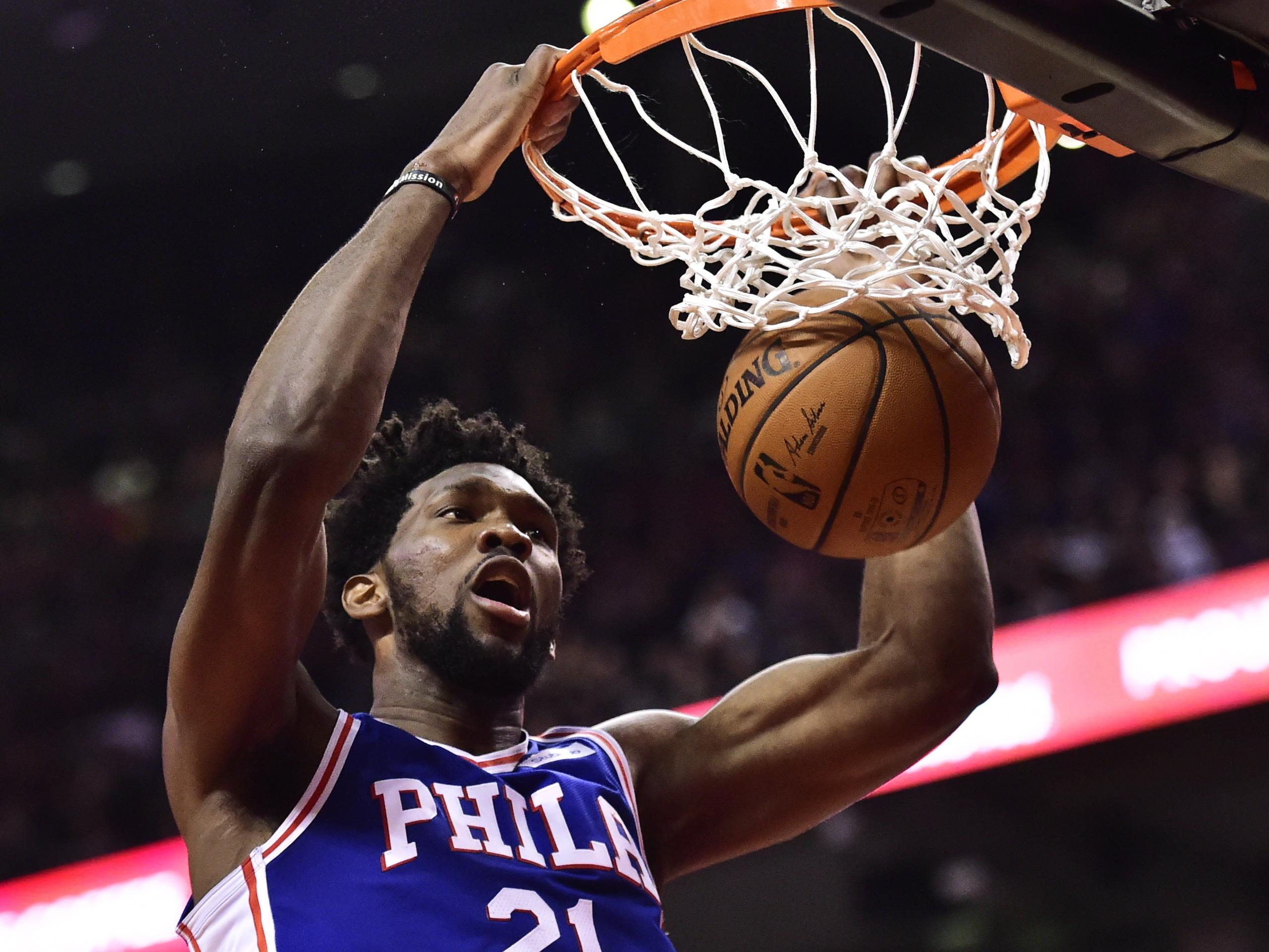 Joel Embiid and the 76ers head to Boston to take on the Celtics