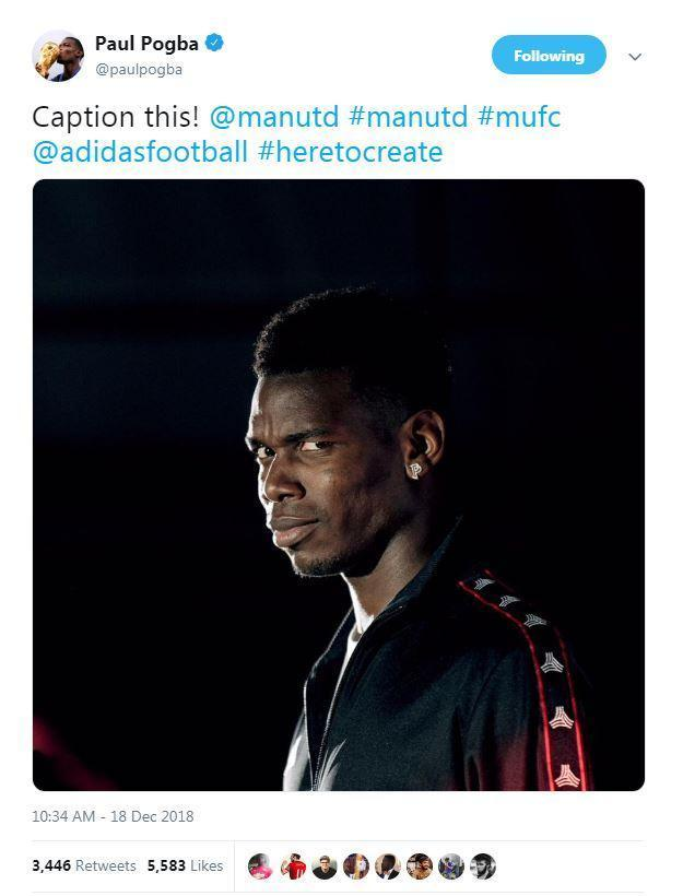 Paul Pogba posted this on social media moments after Jose Mourinho's sacking