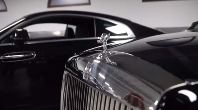 His garage includes four Rolls Royce, a Mercedes-Maybach and a Ferrari