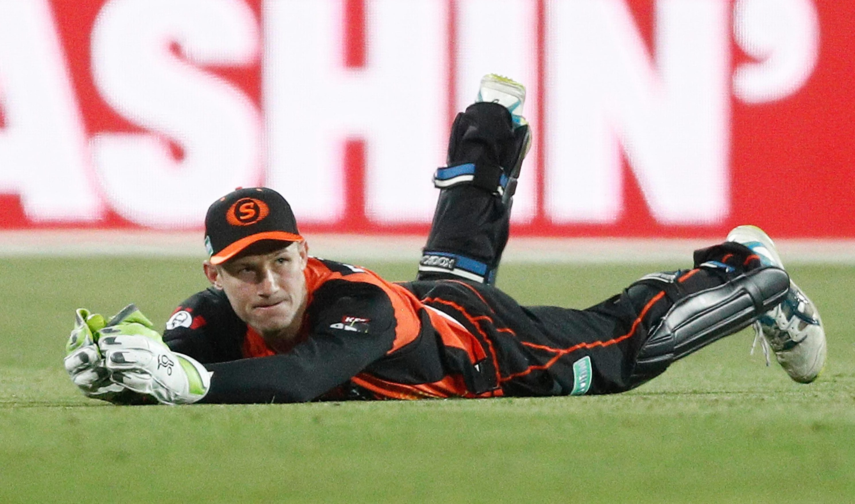 Bancroft took a catch for the Scorchers to dismiss Hobart wicket keeper Matthew Wade