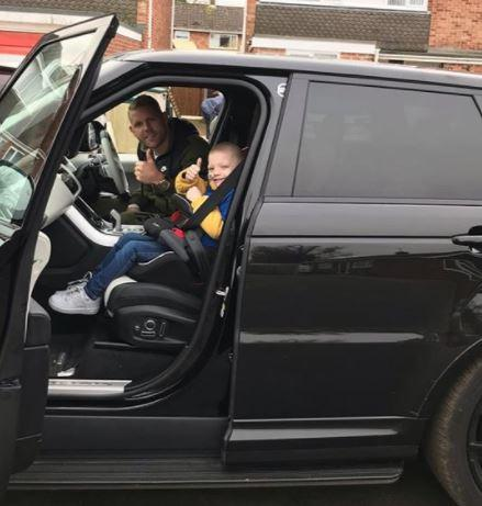 Billy Joe Saunders takes Denver Clinton for a ride in his car