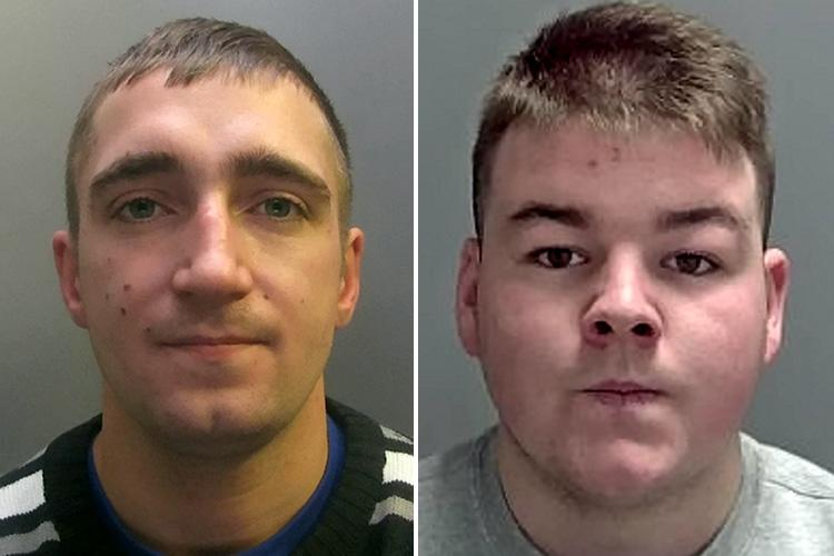 Danny Stone-Parker, left, was jailed for six-and-a-half years and Joseph Holmes, right, was jailed for four years