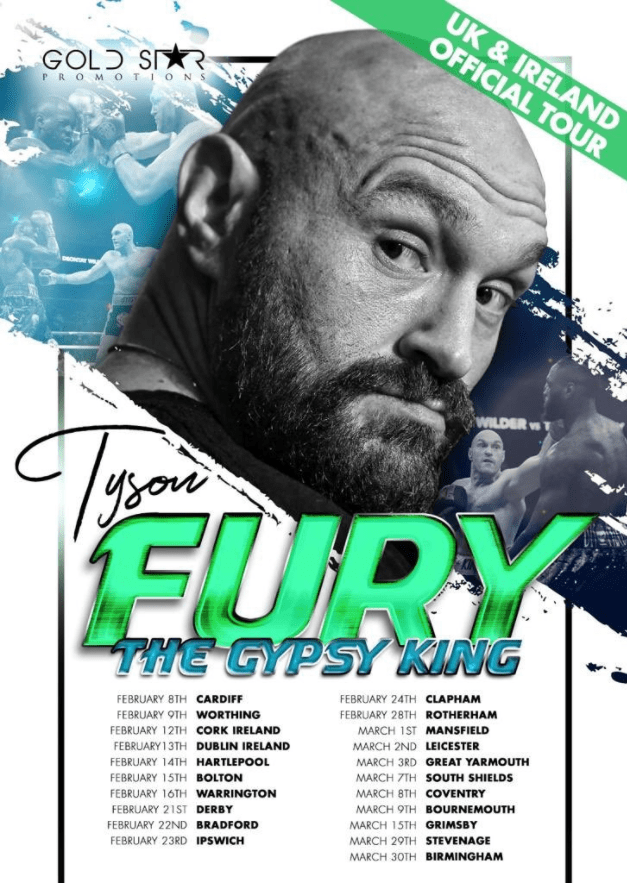 The Gypsy King announced the UK and Ireland tour that will take place from February 8 - March 30
