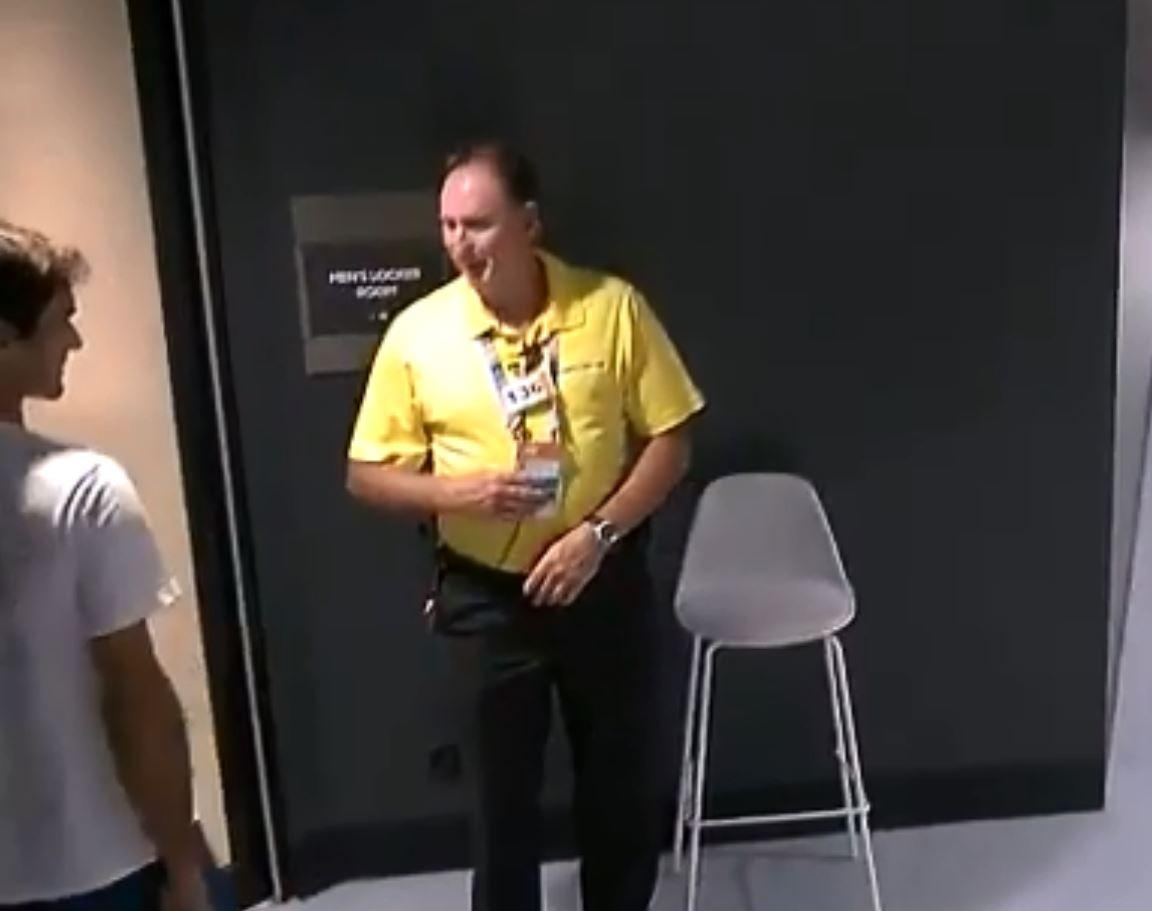 Federer was denied entry as he did not have his lanyard around his neck