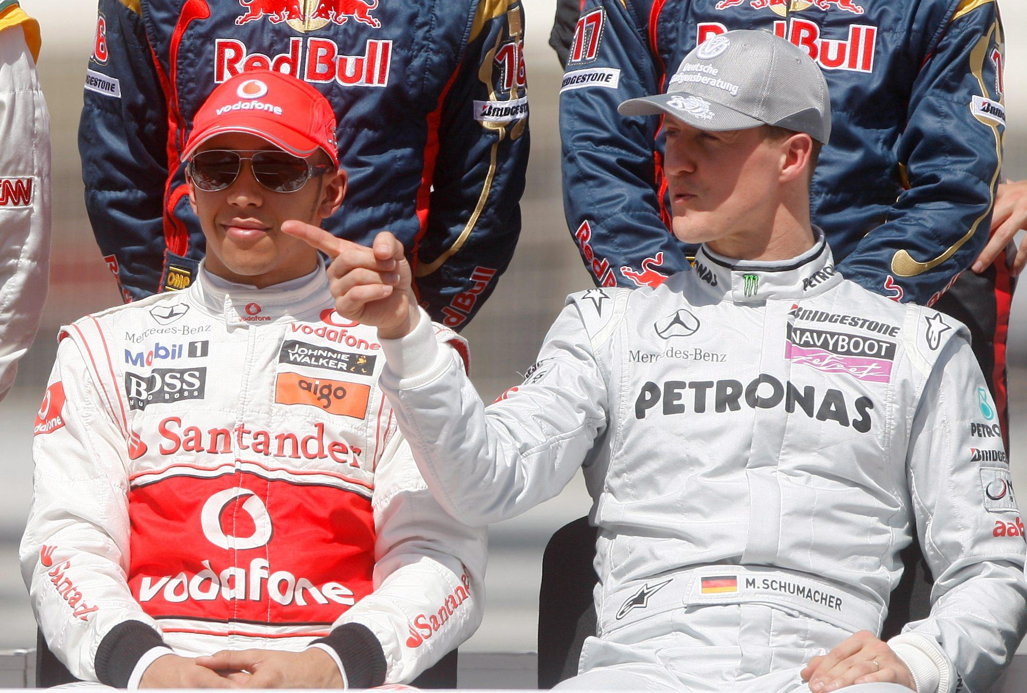 Lewis Hamiton led tributes to Michael Schumacher on his 50th birthday as the legendary F1 driver continues his rehab following a skiing accident from 2013