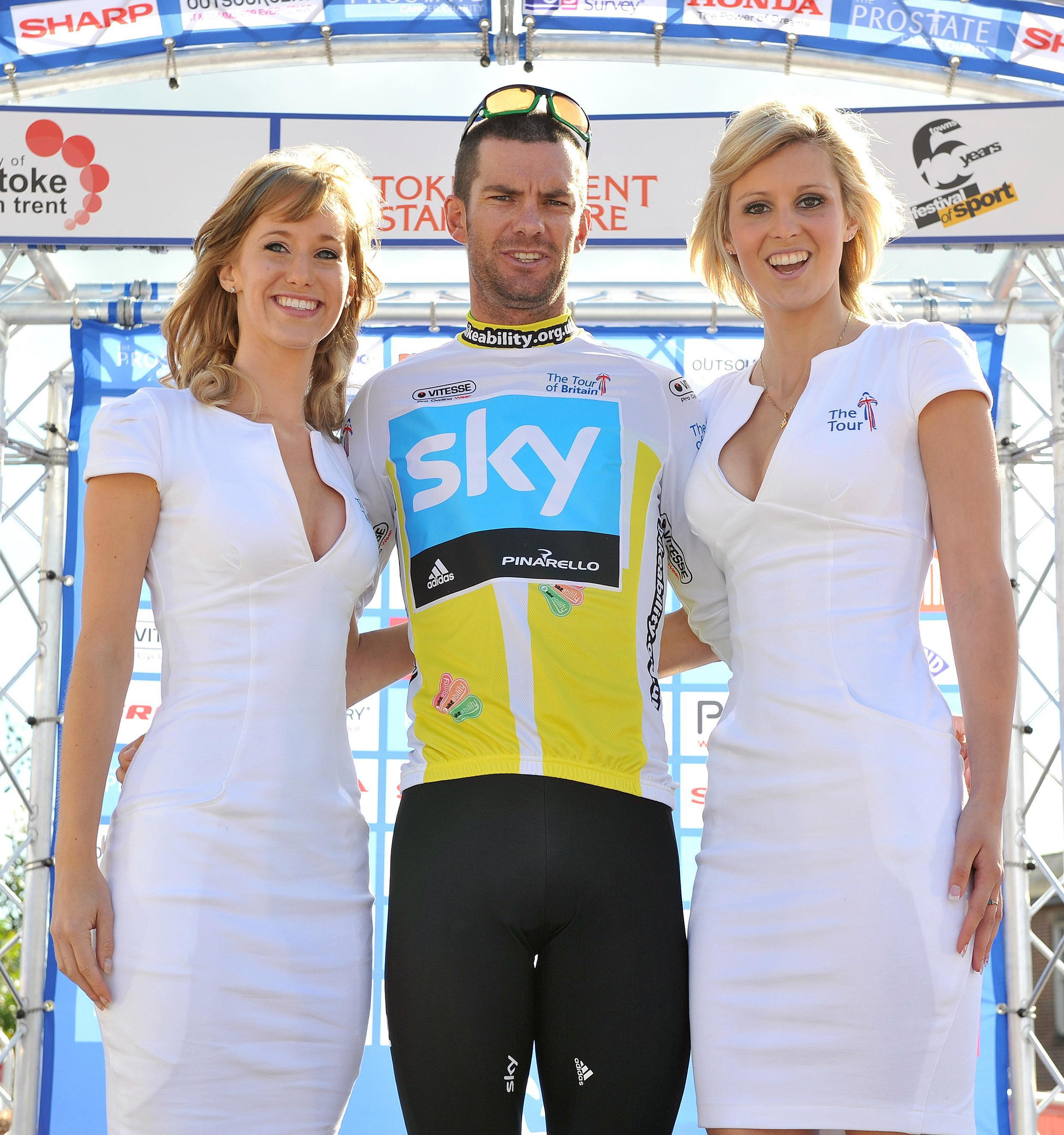 Greg Henderson, centre, rode for Team Sky in 2010 and 2011