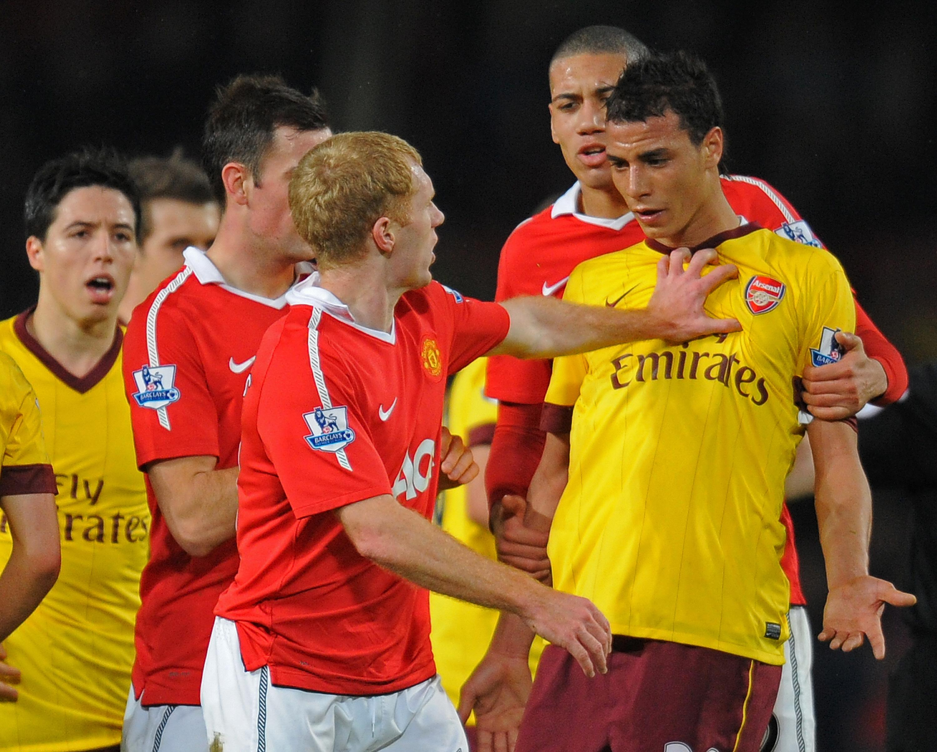 Paul Scholes came off the bench in the 2-0 FA Cup victory