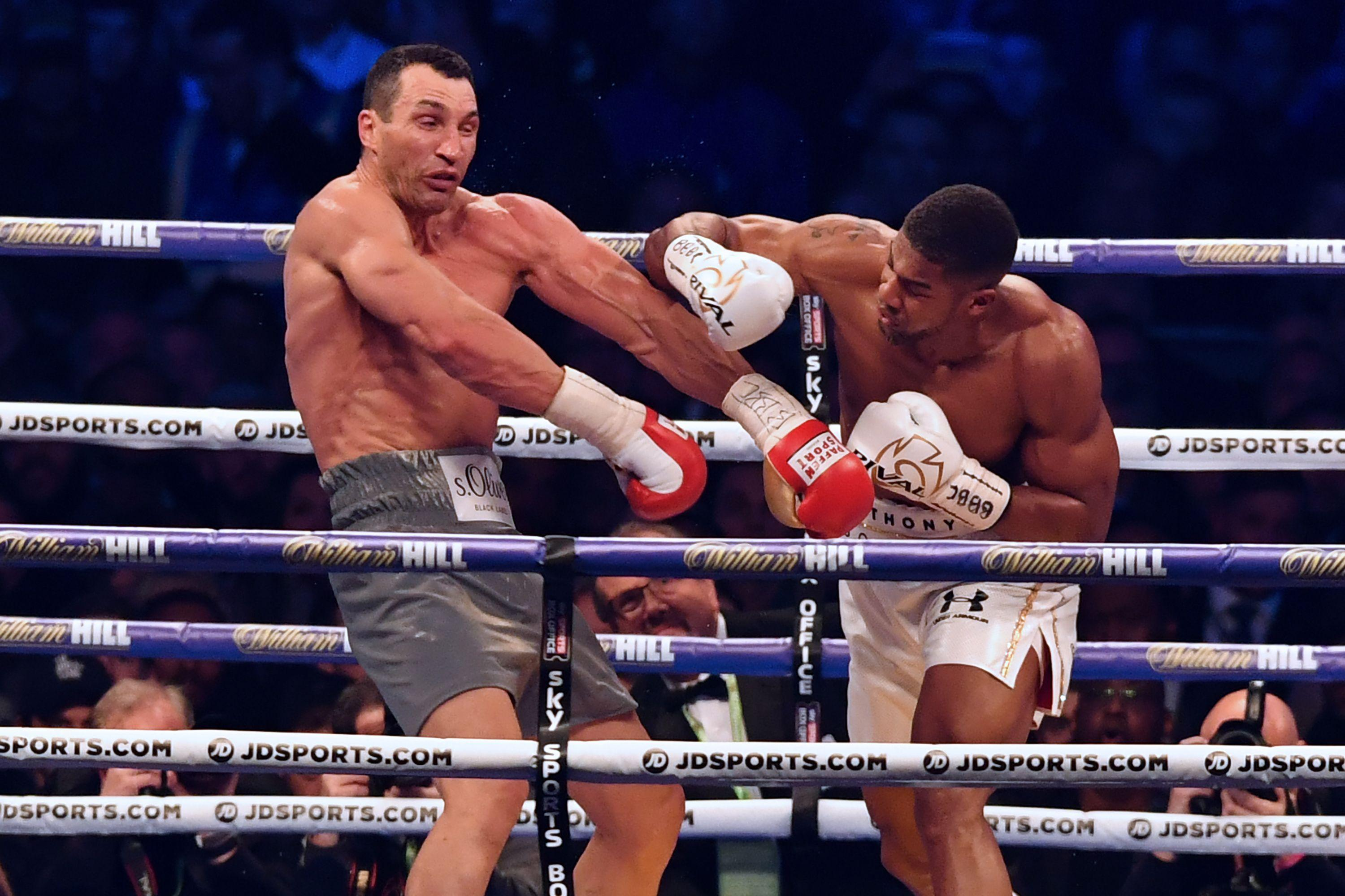 Wladimir Klitschko was beaten by Anthony Joshua at Wembley in a brilliant fight in 2017