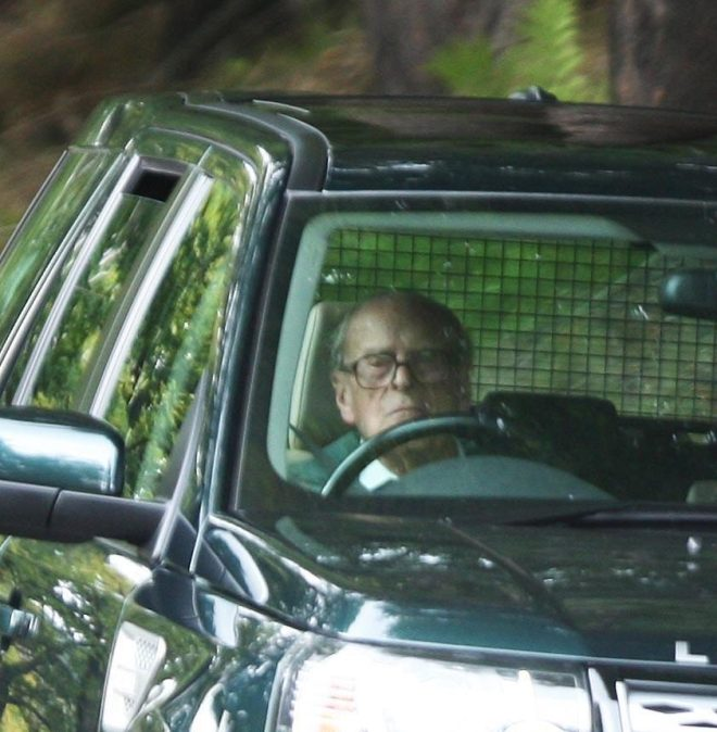 Prince Philip seen driving his Land Rover in September