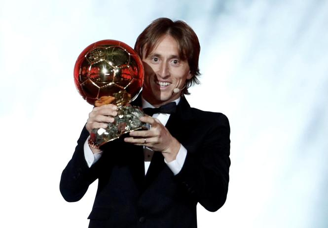 Ballon dOr winner Luka Modric picked up more votes than any other star