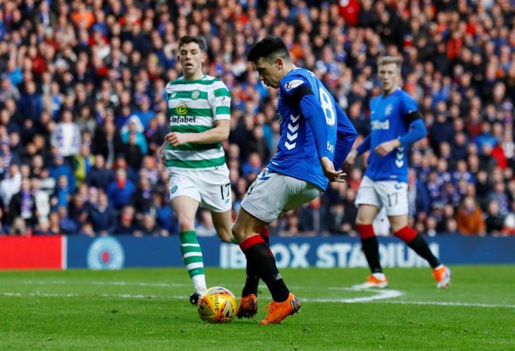 Ryan Jack scored as Rangers beat Celtic 1-0 in last month's derby