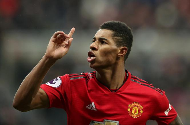 Ole Gunnar Solskjaer reckons Marcus Rashford can be just as good as England captain Harry Kane