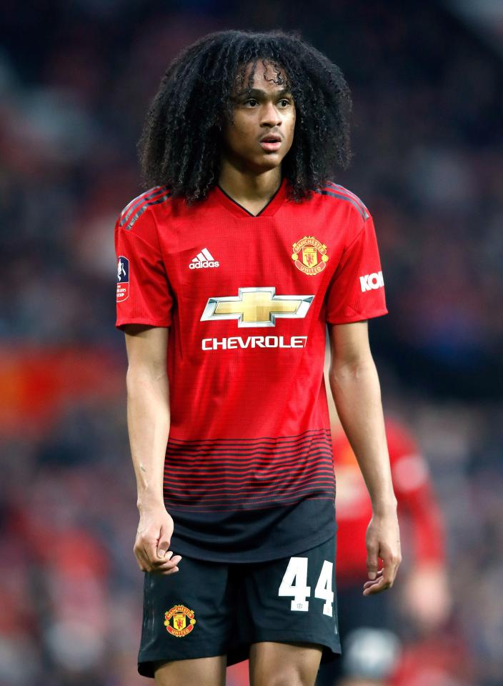 The Dutch winger came off the bench to make his senior Manchester United debut last week