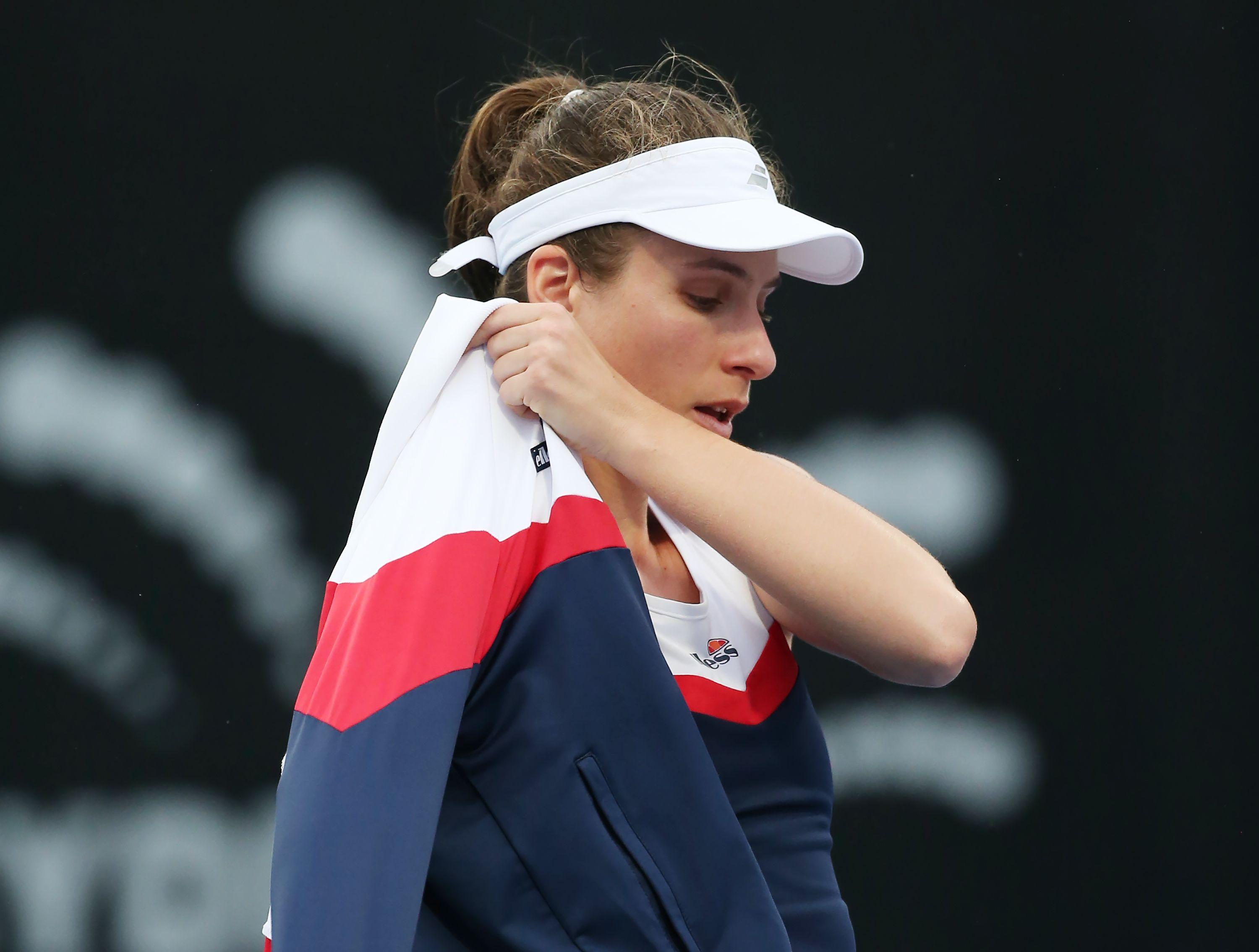It means she is now facing a race against time to be fit for the Australian Open which starts next week